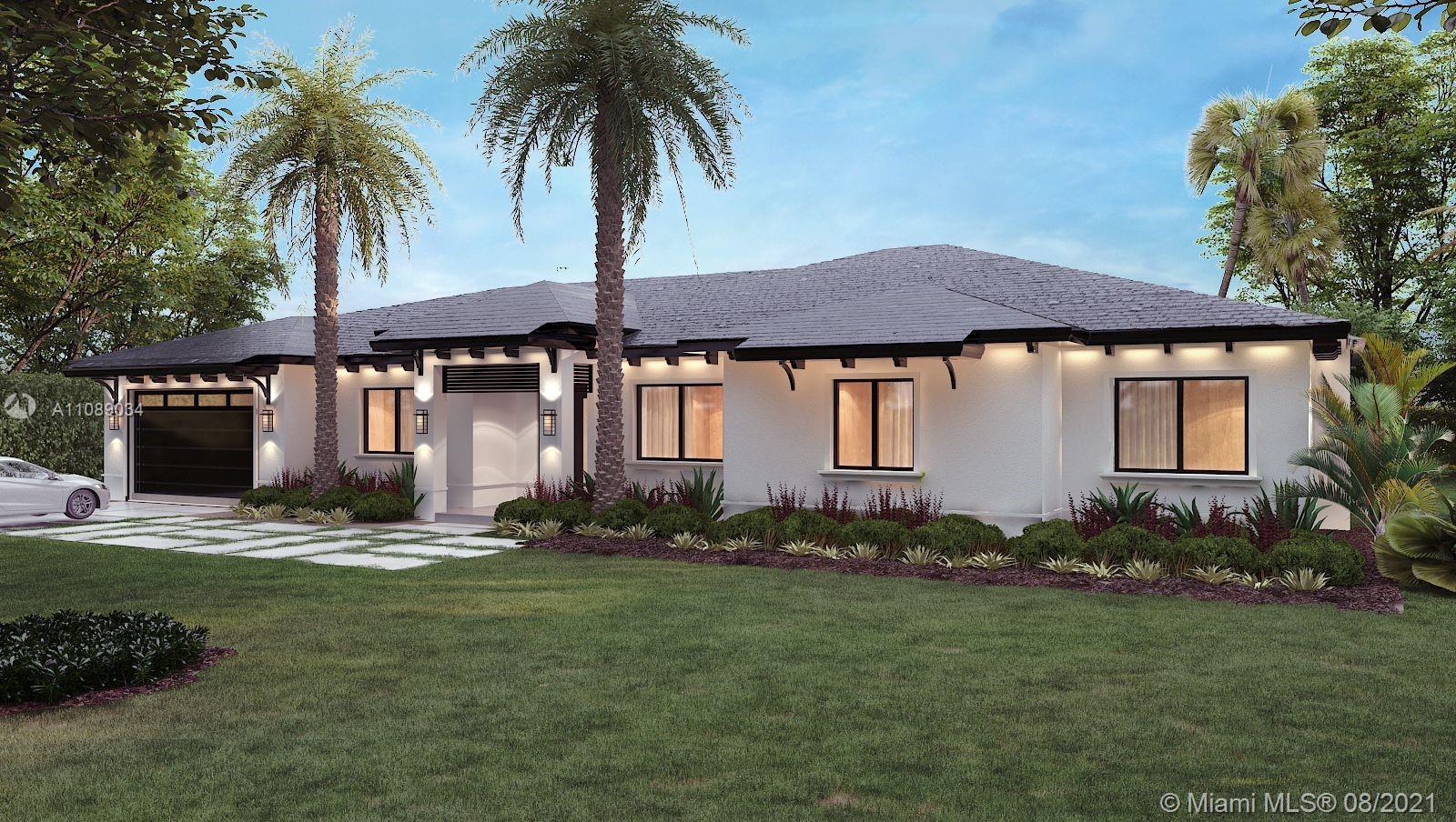 NEW CONSTRUCTION!!!!  In Pinecrest. This 5 BR, 6Bath, 1 Story residence, smart home ready, 2 Car Garage, Pool, Gourmet Kitchen, Integrated Top of the line Appliances (Wolf & Sub-zero), 24X48 Porcelain Tile, Quartz countertops, Impact Windows, Lush Landscape, and much much more.