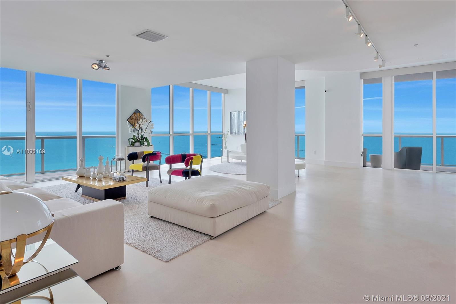 Step off the elevator to stunning bright ocean views, this masterfully designed home delivers the wow factor. Combining only the best 2 lines in the N Tower it epitomizes a discerning life-style. 3 Bed, 4 Bath + Den corner unit features 3,400sqft of the most sophisticated design. Master bedroom offers 2 walk-in closets and a tranquil spa bathroom. 4 different balconies open up to luminous spectacular views. Kitchen features Miele and Sub-Zero appliances and amazing views of Fisher Island & Cruise Ships. This immaculate unit allows one to display beautiful art and blend it with impeccable ocean views while enjoying surround sounds coming from the Crestron system. 12-acre beach land with high-end amenities concierge, valet, restaurant, 3 pools, beach services, spa, gym, and 3 tennis courts.
