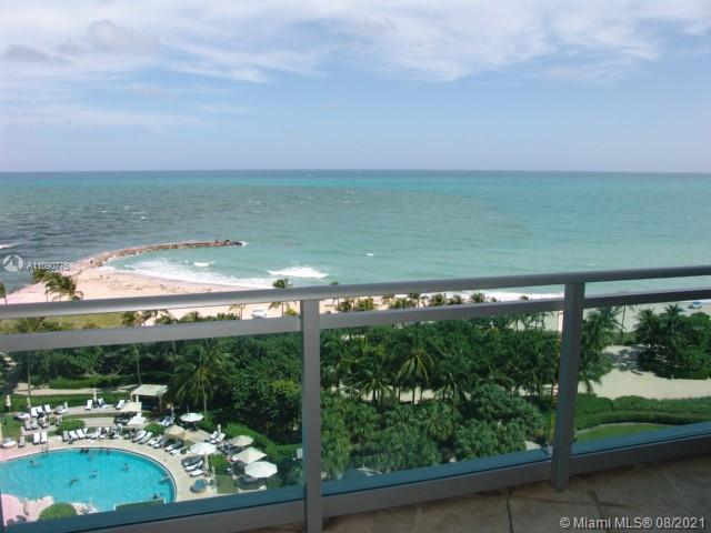 Direct Ocean view from 8th floor. This is a full amenities building. As a resident you can use both pools (residential and Ritz-Carlton). At Ritz-Carlton restaurants all food and beverages are 10% off (excludes alcoholic beverages). Unit has 3 bedrooms with walking closets and full bathrooms. Each bedroom has its own balcony, with one balcony connected to 2 rooms (as an option). Furniture not included in sale.