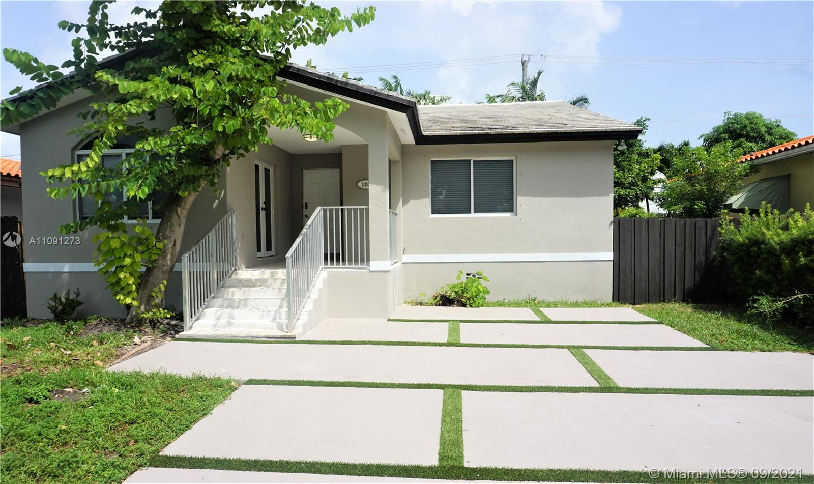 Modern 3 bedroom, 2 1/2 bath pool home in Miami Beach. Home features open concept living, dining and kitchen with French doors opening to waterfall pool.  All three bedrooms and living room consists of Brazilian wood floor.   Great location, close to the beach, shops and restaurant