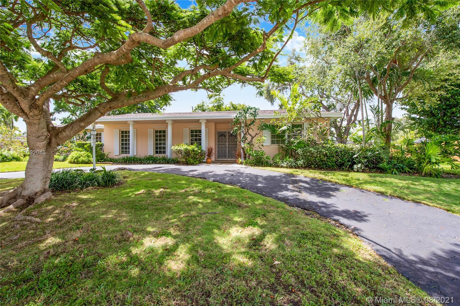 This well kept 3 bedroom, 2 bathroom home is located in the desirable neighborhood of Palmetto Bay, sitting on an oversized lot of 15,000 sq ft offering an abundance of charm with a spacious floor plan, open style kitchen, breakfast area, formal dining , living room, family room, numerous windows and doors throughout the home that allow the enjoyment of the beautiful trees from all around the property. Excellent schools available in the area such as Dr. Henry E. Perrine Academy of The Arts School, Southwood Middle School and Miami Palmetto Senior High School.