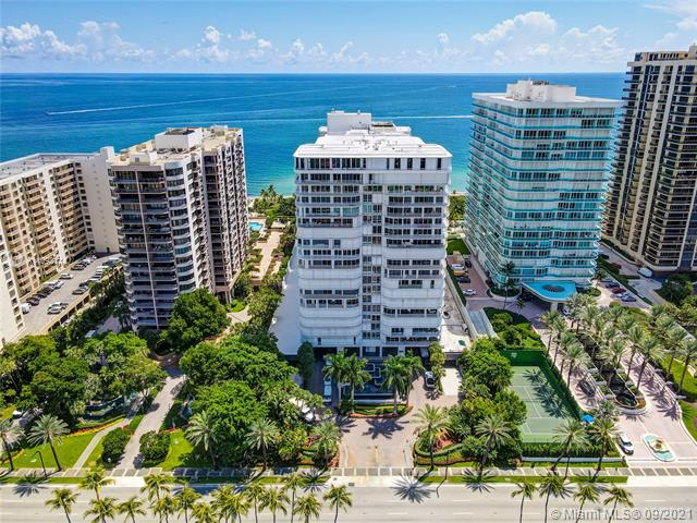 Enjoy both Ocean and City views from the lowest-priced 3 bedroom unit at the prestigious Bal Harbour 101 oceanfront building!  This massive 3/3 unit features 3,340 interior sqft with an extremely long and wide balcony overlooking the Atlantic Ocean, Intracoastal, and Downtown Miami.  This unit is perfect for someone who is looking for a renovation opportunity / project to create their dream house in the sky.  The unit comes with 2 deeded parking spots and a storage unit.  The building has also completed a massive renovation including the lobby, pool area, restaurant, fully equipped gym, and more.  The building does provide pool and beach service for residents, and has hotel rooms reserved only for guests of residents.  Don't miss out on this opportunity!
