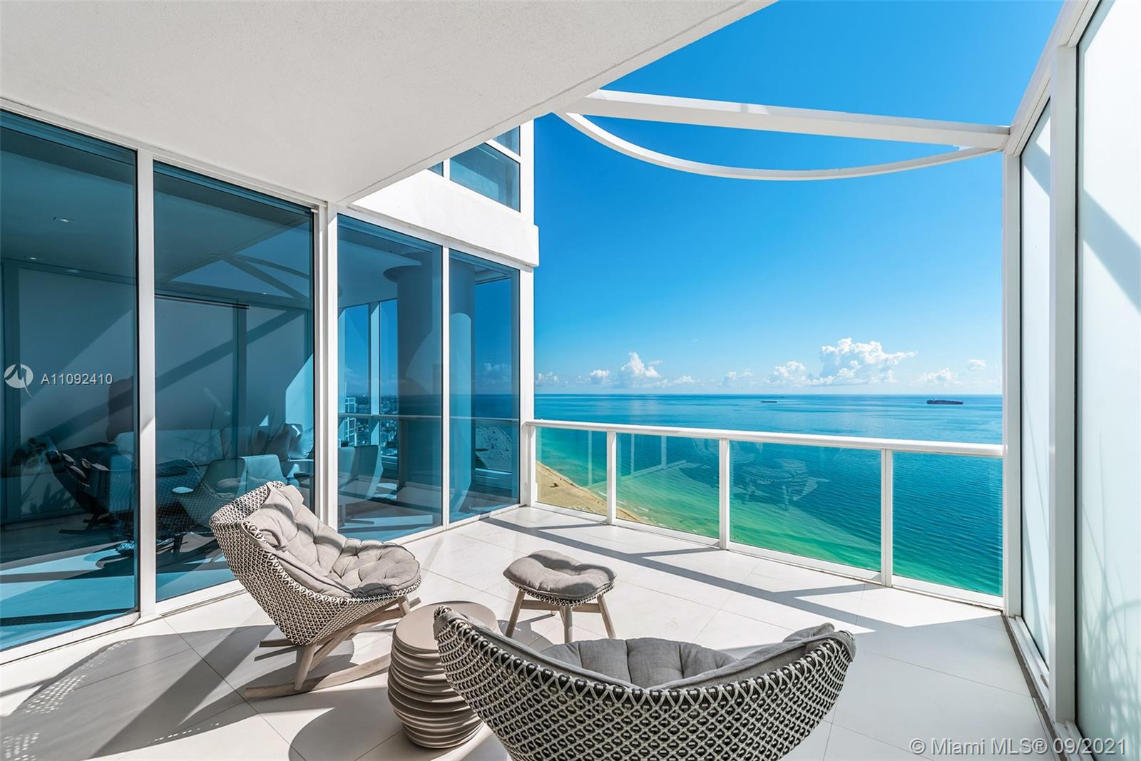 Welcome to this completely upgraded masterpiece perched on the 36th floor above the Atlantic, through a private elevator lobby and impressive designer vault door. An open concept custom marble kitchen with Miele and Subzero appliances flows out onto the living areas. A unique and profound double depth balcony featuring al fresco dining space with unequaled beach views, from South Pointe Beach to Sunny Isles. It's a showpiece!  The primary suite features custom built-ins, extensive walk-in closet, unparalleled waterfall massage and luxurious soaking tub with ocean views. Smart home with Crestron + Sonos integrated sound system controlled by iPad. Continuum is a 13 acre, private beachfront sanctuary including a private restaurant + beach club, 3 har-tru tennis courts, gym/spa/salon +3 pools.
