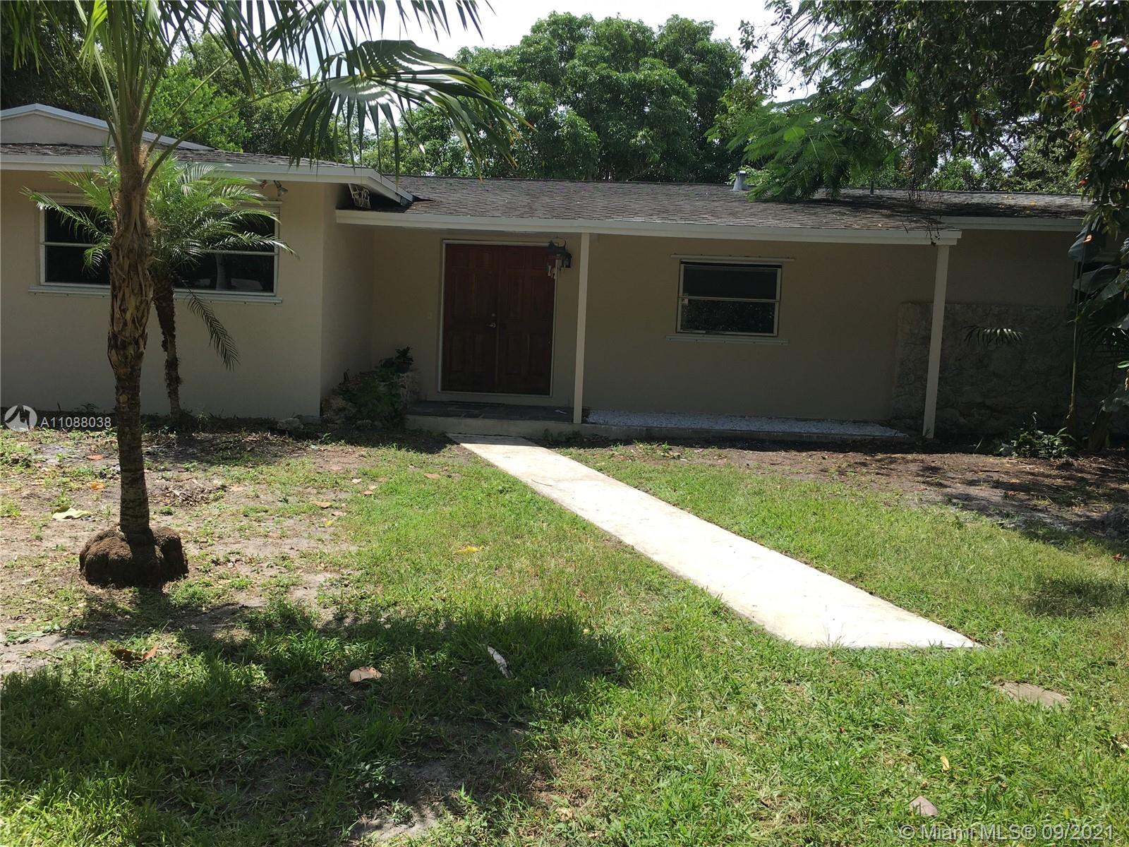 Great opportunity to remodel/ update or build a new home & create  your own living experience in the desirable area in Palmetto Bay! Great location walk to S. Wood School. A School. Large lot!
