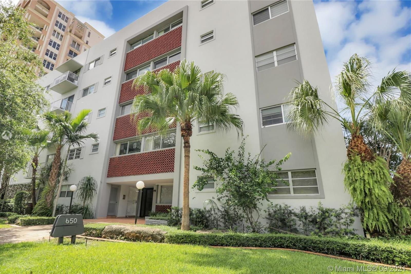 Your opportunity to own in a boutique, 5-story building along Coral Way just west of downtown Gables.  Units rarely on the market.  Maint. fee is under $500 a month and there are reserves for a new elevator system. Assigned parking. This unit has been lived in for over 25 years and is mostly original/not updated, but priced accordingly, so don't look for new.  The Gables Way Condo overlooks the Granada Golf Course and is west of Segovia/ east of Granada Blvd.  This unit is on the second floor and faces the pool.  It has two bedrooms/two baths, plus a large living/dining area.  White kitchen cabinets.  Recently painted and light and bright with almost 870 adj.sq.ft.  Multiple offers will be reviewed with owner on Thurs, Sept. 9.  It is expected to sell well above list price but is worth it.