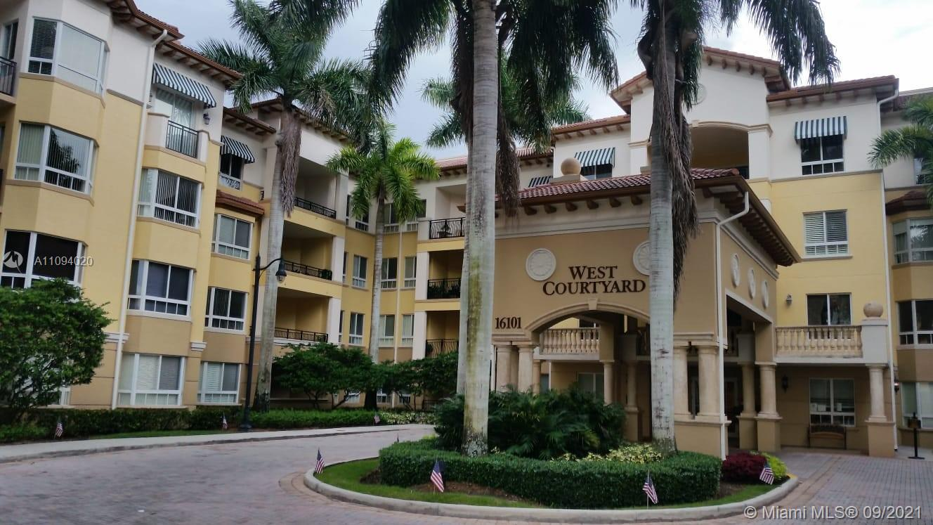 Resort-style 55+community offers 5 star service to all the residents. Amazing 2 bed/2.5 bath + Den . washer & Dryer inside. Large Balcony overlooking the garden view. Stainless Steel Appliances, Granite Counter Tops in kitchen. New A/C unit. All amenities included, pool, dining, spa/salon, fitness center, library, business center walking distance to strip mall, Publix, restaurants, pharmacy, valet parking & much more. Amazing Location!