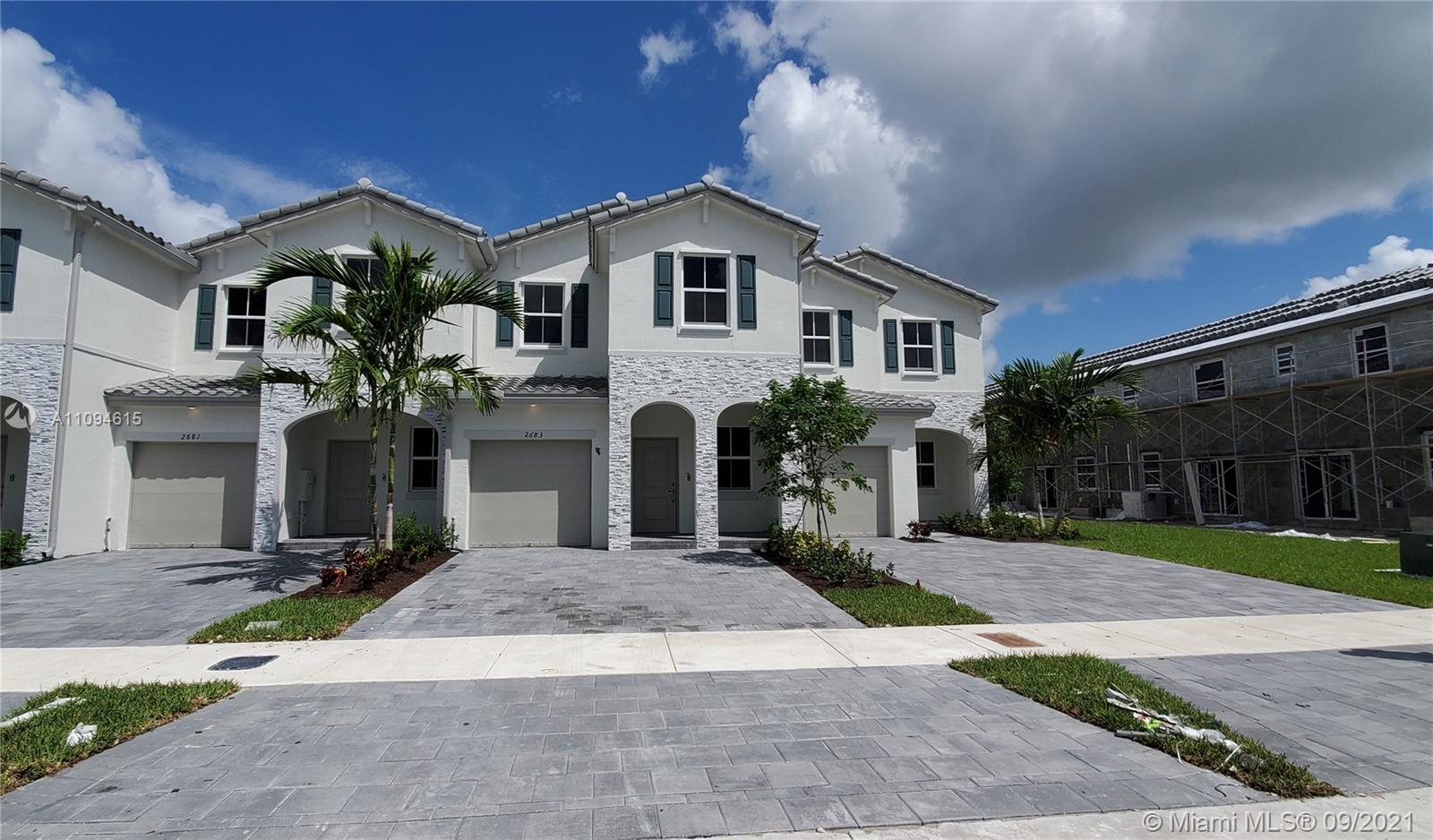Beautiful brand new construction!! Be the first to live in this beautiful 2 story new townhouse with garage in the heart of Homestead. 3Bath 2.5Bath, new stainless steel appliances, tile floor in main areas and the second floor carpet minutes from the Florida turnpike, close to Baptist hospital, near shopping centers and new restaurants, 20 minutes from key largo, minutes away from the Homestead air base. The property is easy to show. New washer and dryer will be installed.
