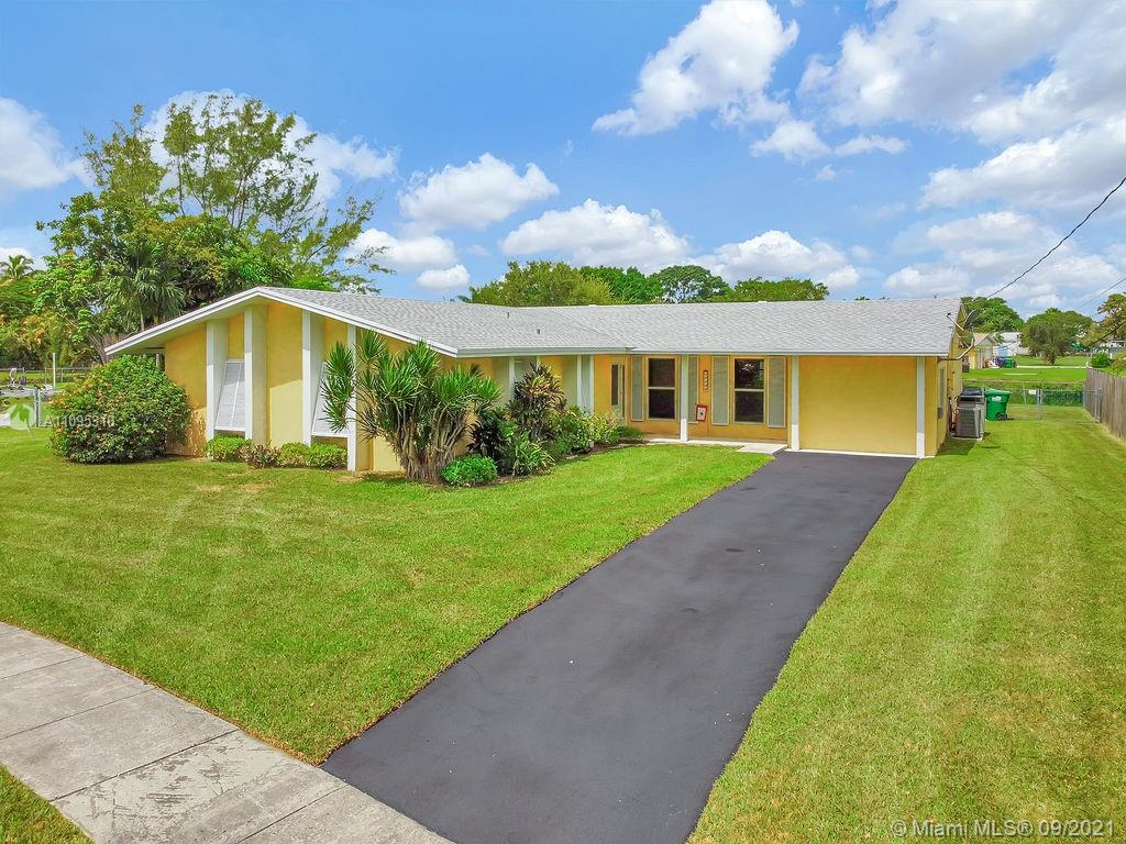 Step into paradise! Sitting on an 18,000 sq foot lot, this home boasts the best location on the Bel Aire canal with 210 feet of waterfront! New roof, impact windows and doors throughout- 4 bedrooms/ 3 baths, your family will have plenty of room to grow and enjoy all that Cutler Bay has to offer. Park your boat, RV, golf cart, or install a beautiful pool to go with the view.  The expansive outdoor patio area makes for a wonderful area to entertain guests. Terrazzo floors throughout with carpet, ready to lay tile or wood and easily open up the kitchen to the rest of the home. Large master bedroom with walk-in closet. The garage was converted to the 4th bedroom and 3rd bathroom adjacent to the laundry room. 2 AC units and much more! Don't miss this opportunity to own in prime Cutler bay!