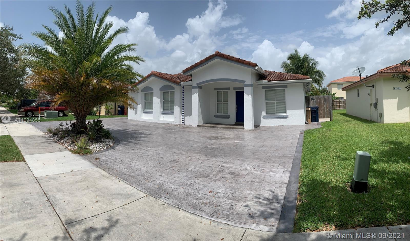 Enjoy this single family home 3/2 with 6000 sq ft lot. Backyard is fully fenced in. Beautifully painted and ready to move in. Large circular drive way. Perfect location for quick access to turnpike and US 1. Shopping center near by for groceries and restaurants around the popular south land mall. This location gives you quick access to Miami and Homestead. Black Point Marina is a 5 minute drive away.