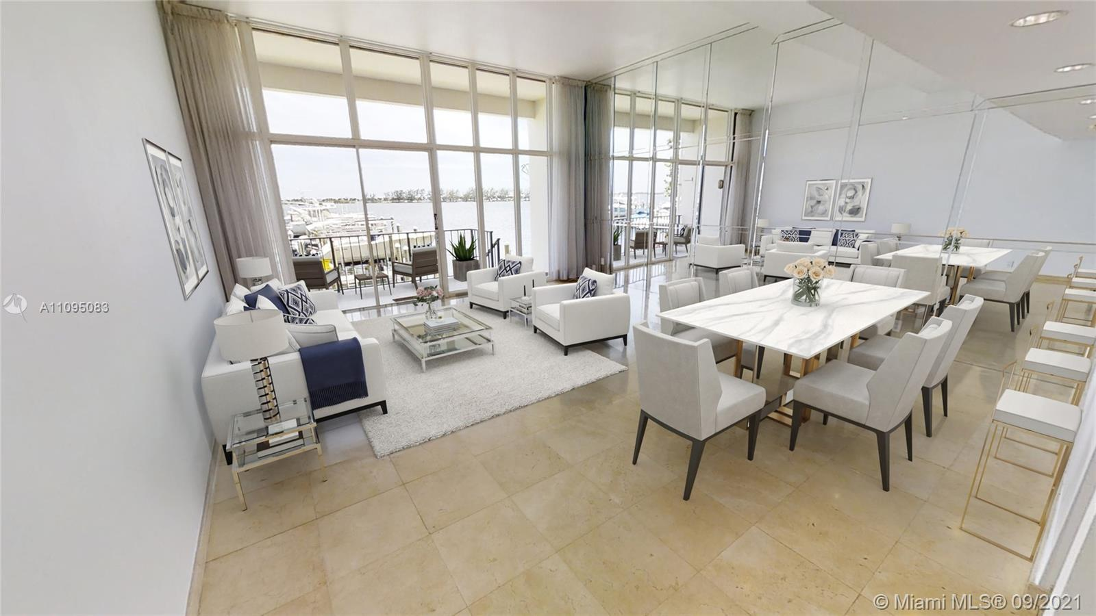This Beautiful, Unique townhouse with amazing Biscayne Bay views and Direct Ocean Access. Enjoy the Sophisticated Brickell Lifestyle without the inconvenience of a high-rise. Unit comes with a 36 FT boat slip foot steps from your own home. A boaters Dream. Modern upgrades one would expect. Kitchen with quartz counter top. Primary bedroom walk-in closet. Floor to ceiling windows. Storm shutters.N new A/C. 2 private covered parking spaces in front of TownHouse. A home living, with luxurious condo amenities. 24 hour security, valet, 2 pools, spa, tennis courts, BBQ area, play ground, bay walkway, gym. Very secured community.  centrally located, walking distance to Mary Brickell Village, Financial Institutions. Easy access to airport, malls, south beach, Arena and much  more . A dream Home.