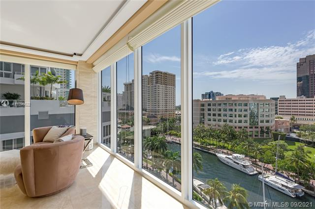 Stunning 10th floor Park with amazing river views in Las Olas River House. Located directly above the New River, the boats are so close you can almost touch them! You will have your own boat parade every day. This special condo has had renovations to modernize the space with a great neutral pallet. Private elevators take you to your own foyer with gorgeous custom double door entry & offers over 3800 sq ft including 4 balconies. One bedroom currently set up as an office with lots of built ins. River House provides a 5 Star lifestyle & award winning architecture in the heart of downtown on Riverwalk & famous Las Olas Blvd. 4M Steven G lobby renovation well underway & no assessment! Dynamic walkable lifestyle! New Greenwise Grocery & Eddie V's just outside the front doors! Great time to buy!