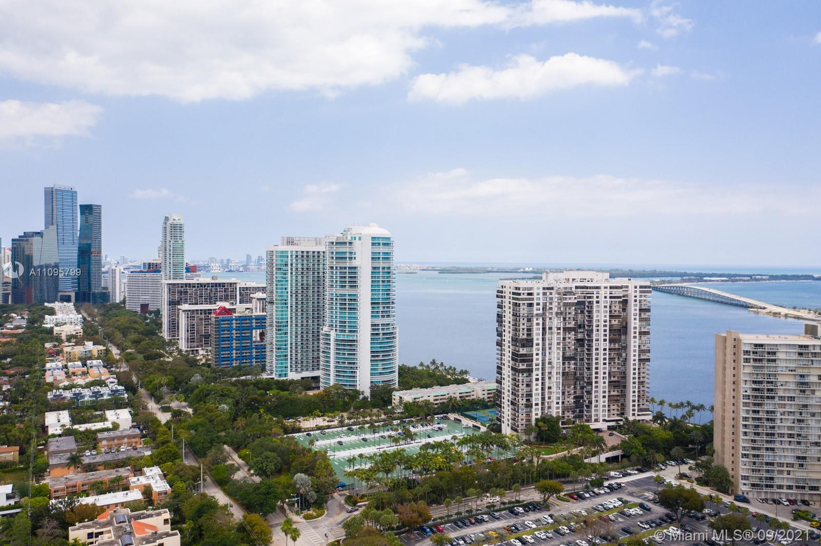 Located in one of Brickell's most recognized addresses, this bright and spacious 1 bedroom, 1.5 baths 14th floor apartment features beautiful views of Biscayne Bay and Downtown Miami, updated kitchen and baths, hurricane impact sliding glass doors and window, washer and dryer inside unit, oversized walking closet in master bedroom with California closet built-ins.  This building's many amenities include 24 hr. security and valet, pool and jaccuzzi overlooking the bay, tennis courts,  gym, children's play area, convenience store, hair salon, community room, large common areas for afternoon strolls and entertaining.