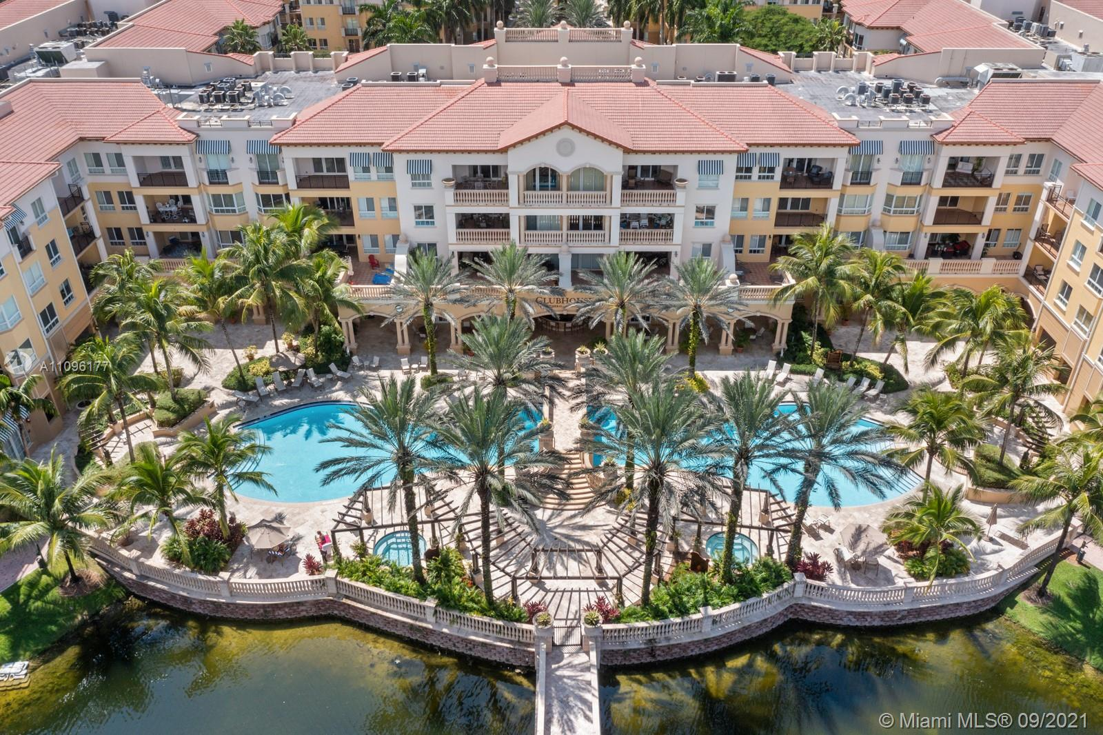 1 BED & 1 BATH APARTMENT IN THE GORGEOUS COMPLEX OF THE PALMS AT WESTON, 55+ COMMUNITY UNIT IS LOCATED AT THE CLUB HOUSE WHERE ALL AMENITIES ARE LOCATED! HEATED POOL, GYM, GAME ROOM, LIBRARY.