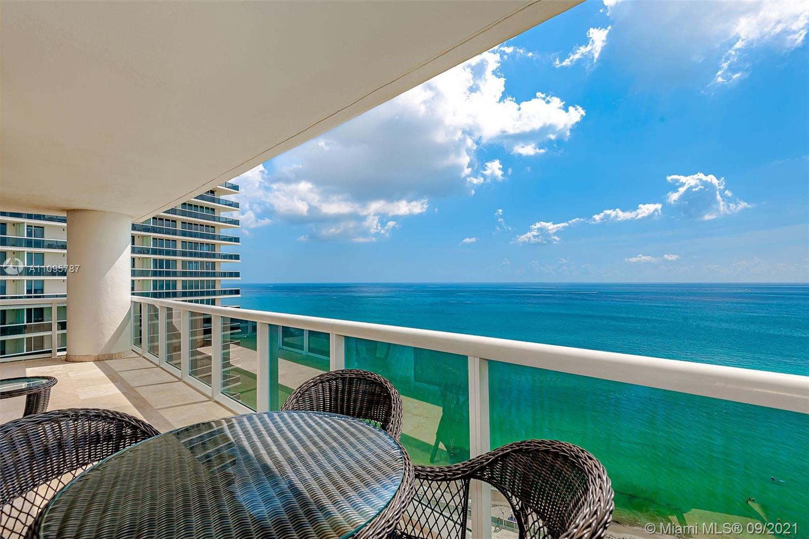 Beautiful corner unit with northeast direct ocean & intracoastal views from the moment you walk in, incredible breathtaking views of the ocean !This 3 bedroom 3.5  baths boasts 2078 sq ft and a 586 sq ft wrap around terrace. Over $100,000. upgrades with custom built ins. European style kitchen with wood cabinetry and granite counter tops. Marble floors throughout. Custom doors w/matching door trim & baseboards. Master bath walk in shower & jacuzzi, double sinks, and bidet. Built in custom closets in all bedrooms. 2 parking spaces and storage unit included.  This luxury building offers 5-Star resort like amenities , full time concierge, security, 24-hour valet, access to 5 heated pools, 50,000 sq ft fitness center, spa with cold plunge, & hot tub. Café and beach side service. MUST SEE !!