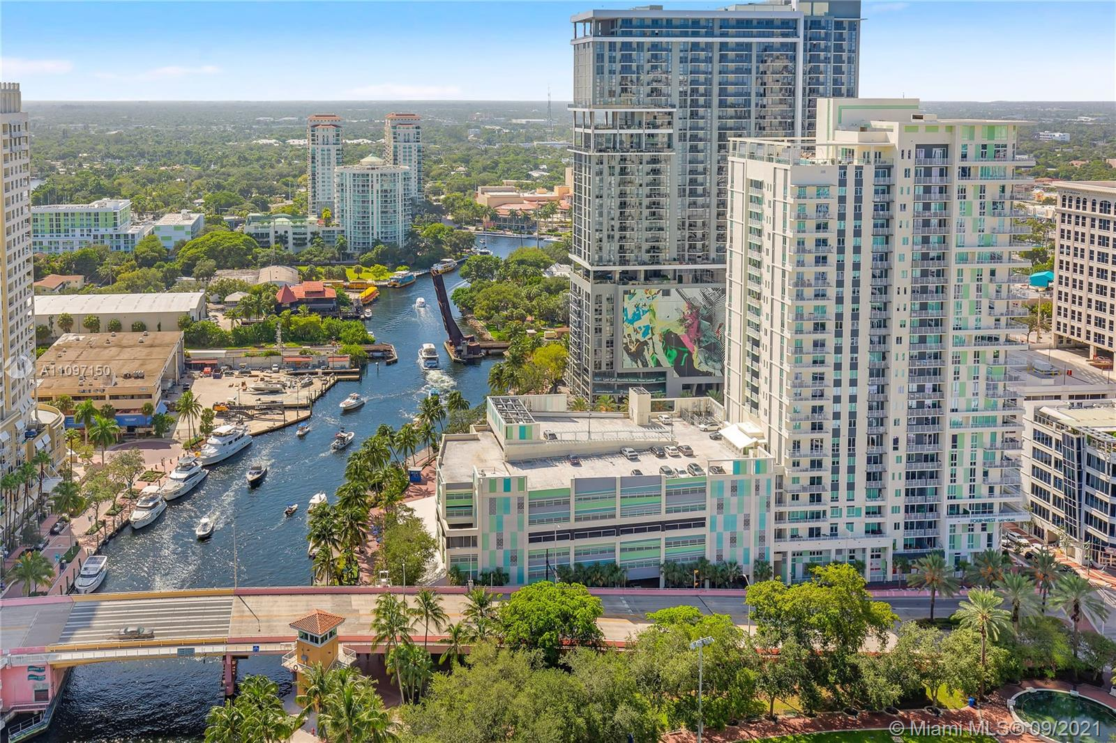 Dramatic high floor furnished Lexington offering 2/2.5 plus 2 balconies in iconic Las Olas River House. Impressive views east to the ocean, city skyline and west of stunning New River, pool deck and park! Each room has show stopping views! Private elevators take you to your private foyer, floor to ceiling glass, flow thru design & split floor plan. This special condo is furnished & accessorized...simply bring your toothbrush! River House provides a 5 Star lifestyle with award winning architecture, world class fitness center & tropical pool deck full of afternoon sun! 4M lobby renovation by Steven G is well underway & will be completed late 2021 with no assessment. New Hyatt Hotel, Eddie V's & Greenwise Grocery right outside the front doors. Don't delay, now is the time to buy! Location!