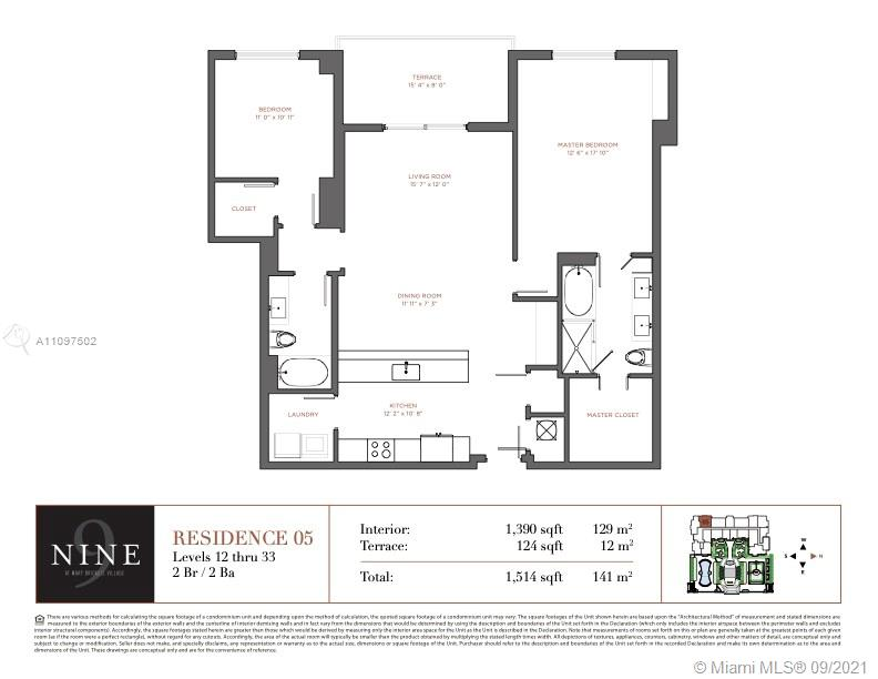 """NEW TO THE MARKET!! Rarely available """"05"""" line, one of the largest 2-bedroom turn key units, the best split 2/2 floorplan in Nine at Mary Brickell Village has to offer.  Custom-built closets in both bedrooms, laundry room, pantry, top-of-the-line washer/dryer, window treatments, upgraded frameless glass doors in bathrooms, upgraded lighting/fixtures, porcelain floors throughout (incl. on a spacious balcony). If the buyer becomes interested, it's also completely furnished.  It is in impeccable condition. It is also within walking distance to the unique Brickell City Center, luxury dining & shops, Publix, the Metrorail/Metromover, the renovated Mary Brickell Village under the building, and many restaurants around. Unit is a must-see and will not last."""