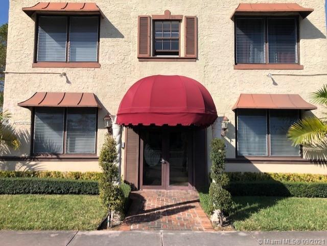 Excellent Location. Great Studio apartment located in the Highly sought after area of Coral Gables. This building is also conveniently located directly across from the trolley stop / public transportation. Safe key entry building, Peaceful court yard with picnic and BBQ area. Convenient coin operated washer and dryer on site. Public park and playground located within one block of the building. This unit is also conveniently located close to all shopping, downtown Miami, employment centers, and public transportation within step of the building.