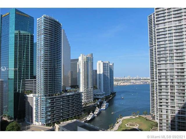 Amazing renovated 2 bedrooms /2 Bathrooms (shower & Jacuzzi tub). Marble floors throughout,  including the terrace. Modern kitchen w/granite counter top, Italian cabinetry. Washer/Dryer in the unit. Amazing view from the 27th floor balcony. Unit faces the mouth of the Miami River leading to Biscayne Bay, which the Water can be seen from all the rooms. The development is located right on Brickell Ave. Cafes, Restaurants, Bars, Salon, Dry Cleaners, Banks, etc just downstairs in retail space of the bldg. Amenities include 2 Pools, Large Gym, Spa, Movie Theatre, Billiards, Party Rooms, 24 HR Doorman & Business Center.