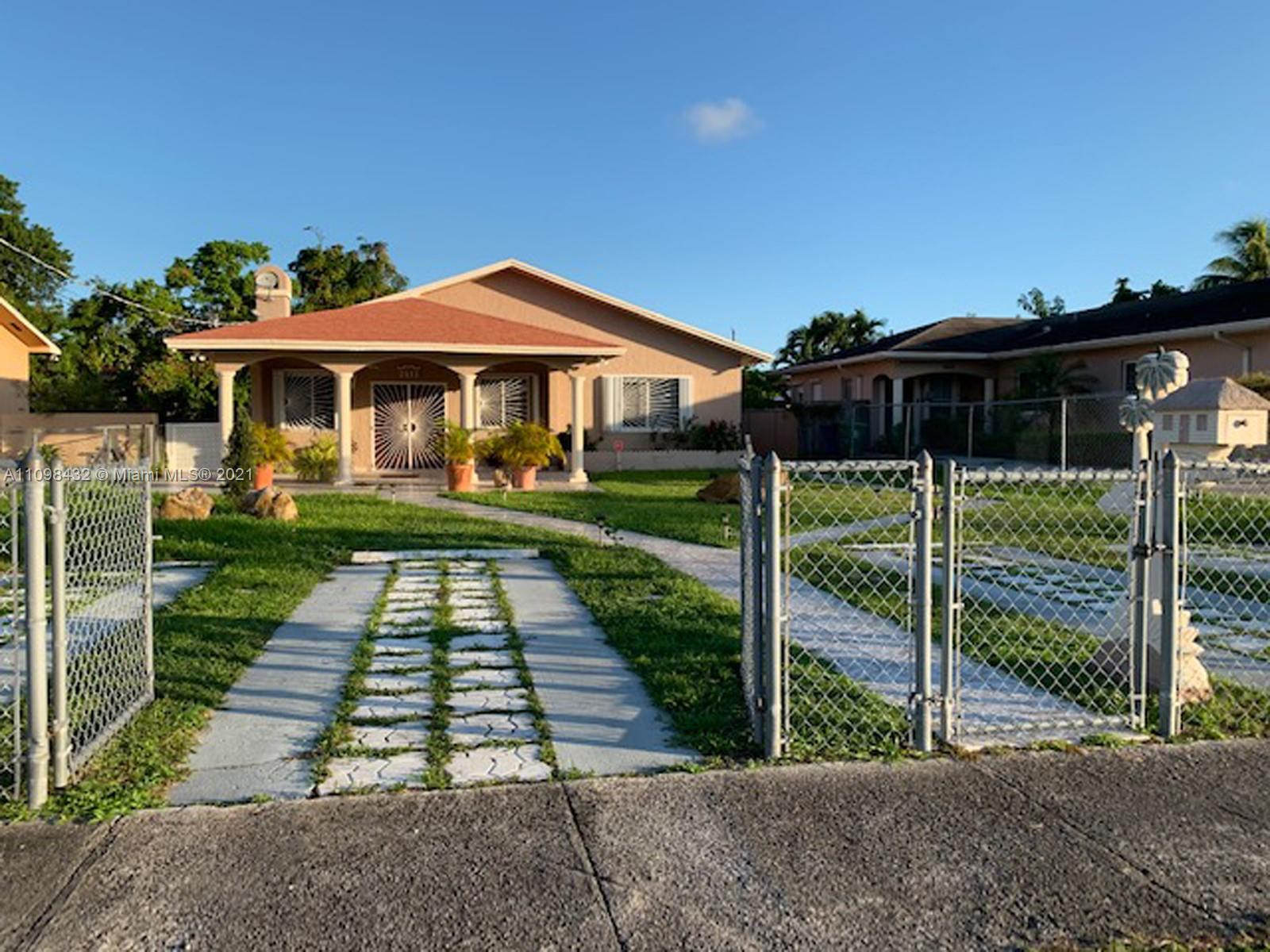 Recently renovated and conveniently located Duplex. Tiled floors throughout each unit. Accordion shutters and updated kitchen and Master bath in the 2/2 unit. Separate electricity meters and laundry room with washer and dryer for each unit. Utility shed and covered back porch. Make some upgrades and boost your rental income. Easy access to 836 expressway, a few blocks from Coral Gables, very close to Miami International Airport, Magic City Casino and Grapeland Water Park.