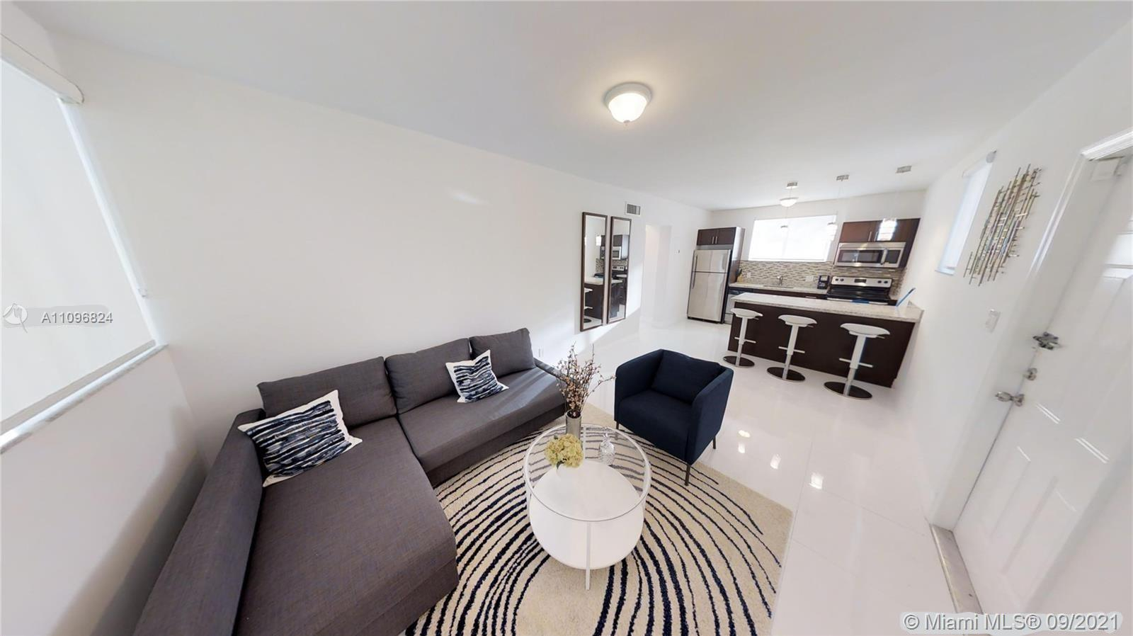 1 bedroom and 1 bathroom completely remodeled (unit comes furnished). Short term rental available (call for questions) Location: walking distance to the hottest area (Brickell) of Miami on the highways. 5 minutes to Miami International Airport, Miami Beach, 15 minutes to other shopping centers like Aventura Mall and Dolphin Mall with all the entertainment around the building: building has no amenities, but is secured, clean and close to everything. Great owner.