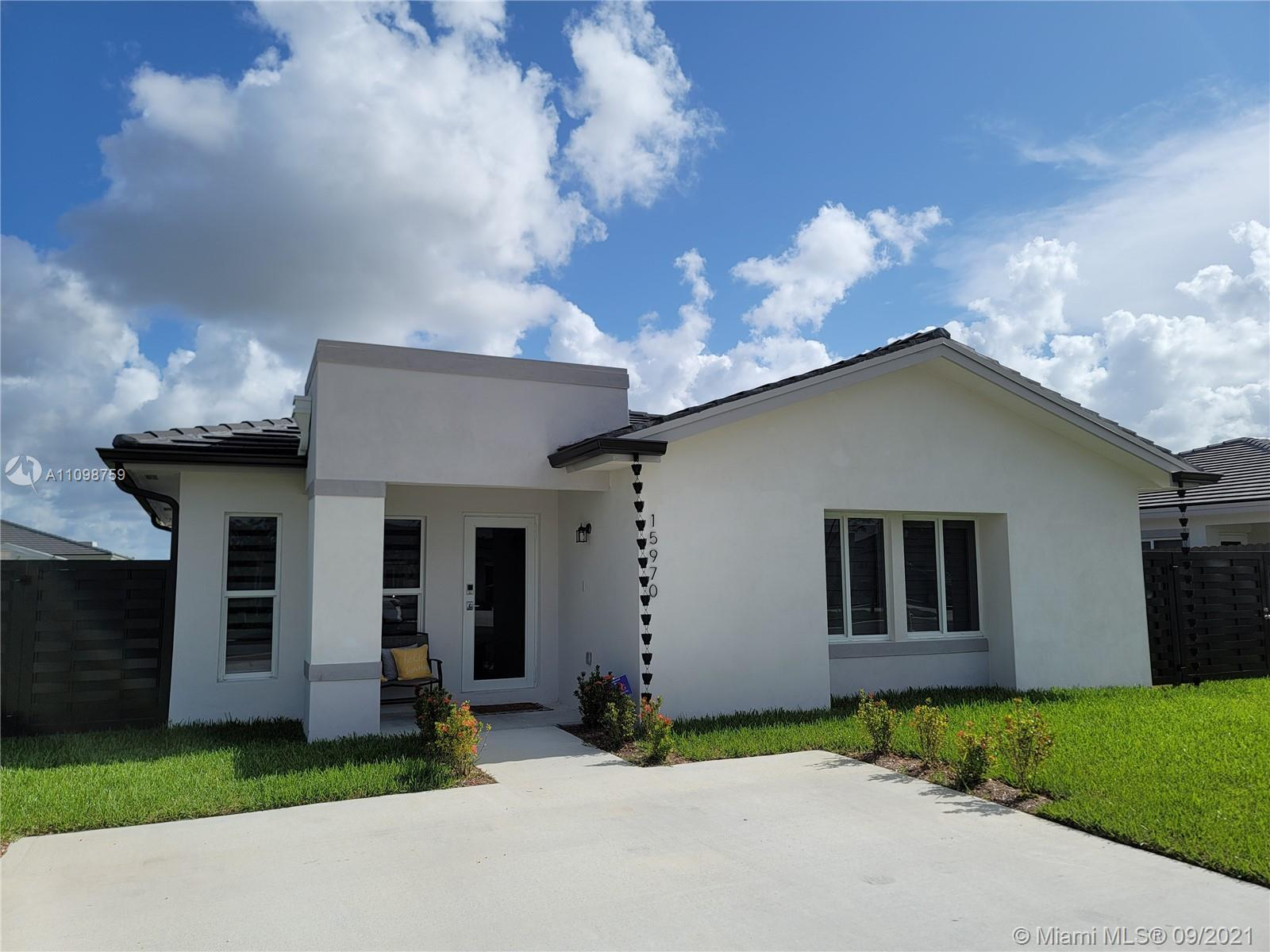 This Beauty is practically brand new. With all the bells and whistles. Including a fenced yard, quartz countertop, and porcelain tile floor. This home also comes with a premium washer/dryer and stainless steel appliances. If you are looking for a property with NO HOA,  This is the right home for you. Just minutes from the turnpike.