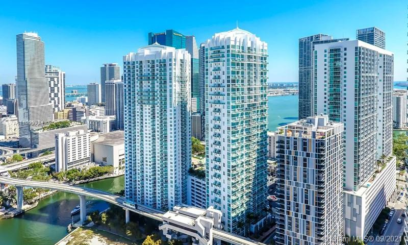 Beautiful and impeccable 3 bedroom 2.5  condo in amazing Brickell. Location is perfect, walk to the mall and restaurants and be by the river. Beautiful boardwalk, pool, gym and security guard at lobby. Property is a corner unit and has a lot of light and floor to ceiling windows. Property has a great layout and comfortable floor plan. Updated with marble floors and beautiful kitchen and bathrooms. View of water in almost every window. Unit has 3 balconies. Very spacious and one of the bigger units in the building with high ceilings!!!  walk to Brickell city center and close to the expressways. You can walk to anywhere and next to people mover. Perfect location in Brickell. A must see!!! you will love the layout. 24 hour request to show.