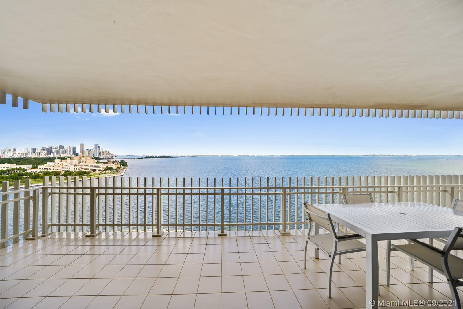 Spectacular views of the Miami Skyline, Coconut Grove, Key Biscayne and Miami Beach. Large 3 bedroom 2.5 bath, comes fully furnished and offers a spacious living area to enjoy the endless views of the marina and sunset from every room. Separate dining area with balcony access and plenty of closet space. Relax in your expansive master suite with huge walk in closet and ensuite bath. Grove Isle offers luxury amenities including pool overlooking Biscayne Bay, gym, hotel/restaurant, spa, multiple tennis courts, private marina etc. Grove Isle is one of the most secluded islands in all of Miami. Available for 6 month lease.