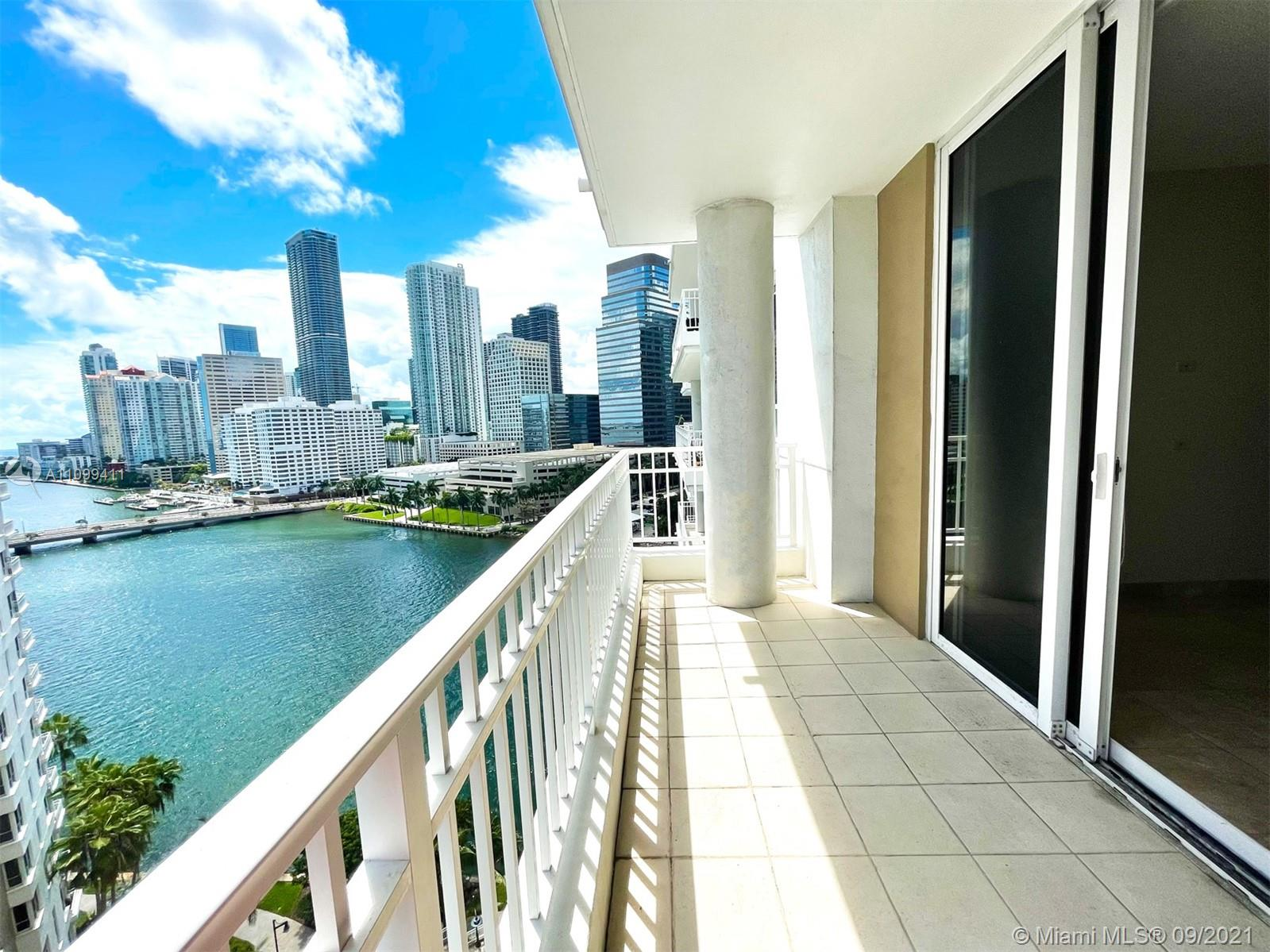 This one won't last !!! 1Bedroom 1.5Bath Condo in the exclusive Brickell Key island. 14th Floor, Featuring Marble floors, High Impact Windows, Hardwood floors, Stainless steal appliances, Gorgeous water & city views.  Surrounded by luxury restaurants, shopping & Night Life.