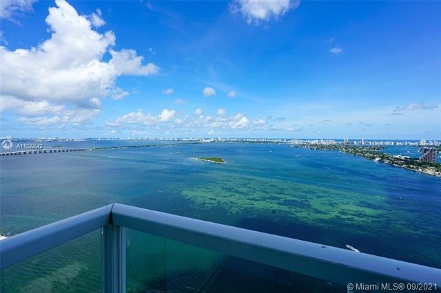 Completely and beautifully remodeled direct east facing unit. Wake up to amazing views of the bay and Miami Beach! This 2 bedrooms 2.5 baths great floor plan in the sought after line 02 on the 39th floor with wraparound balcony. Spacious walk-in closets. 1 assigned parking space. Building includes 2 floors of amazing amenities gym with spinning room, 2 pools, theatre and much more. Few steps away from the Performing Arts Center, American Airlines arena, Venetian Causeway and Miami Beach. Right in front of the Margaret Pace park. HOA includes Internet.
