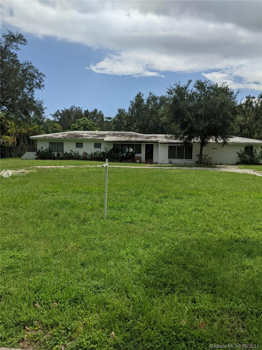 """To """"DREAM"""" of building your own home, YOUR WAY! Come see this """"Ready to Build"""" on this 38,768 SF North facing Lot. Deep rectangular Lot is 128.99' M/L wide at the street and the backyard and 303'M/L on the East and West sides! The """"existing structure"""" will be demolished by owner, at owner's expense in October! Great site, with a FLOOD DESIGNATION OF ZONE """"X"""" for your new """"Home""""! FPL electrical connection is on the West side of the property & City water is at the site! Several new homes are being built in the surrounding neighborhood. Seller has New Plans for a 5Bd/5Ba/3C-gar home to be built with """"POURED CONCRETE"""" walls and Roof! Huge Pool/Patio running North/South! The plans are for over a 7,600SF home + a Secondary Residence Building of 1,270 SF with a 1Bd/1Ba & large Workshop."""