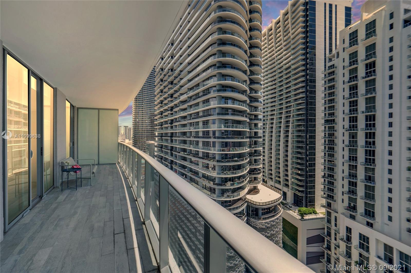 Two bedroom, two bathroom  + DEN unit with views to Brickell and Biscayne Bay. Featuring marble flooring throughout the entire unit and Italian kitchen. Central location, many amenities including party rooms, rooftop pool overlooking Miami, gym, children's playroom theater and more. Unit is available from 1/15/22-12/12/2022.