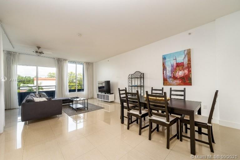 Lightly furnished 1 bedroom unit here in Coconut Grove!! This large open floorplan includes granite countertops, stainless steel appliances, vaulted ceilings, 2 full baths, impact glass and blackout curtains. Parking is secure & gated, property walkability factor is a 10+!! The rooftop pool is amazing and features plenty of space for events, parties, etc.!! Water, sewer, basic cable & internet included!! Must see!!