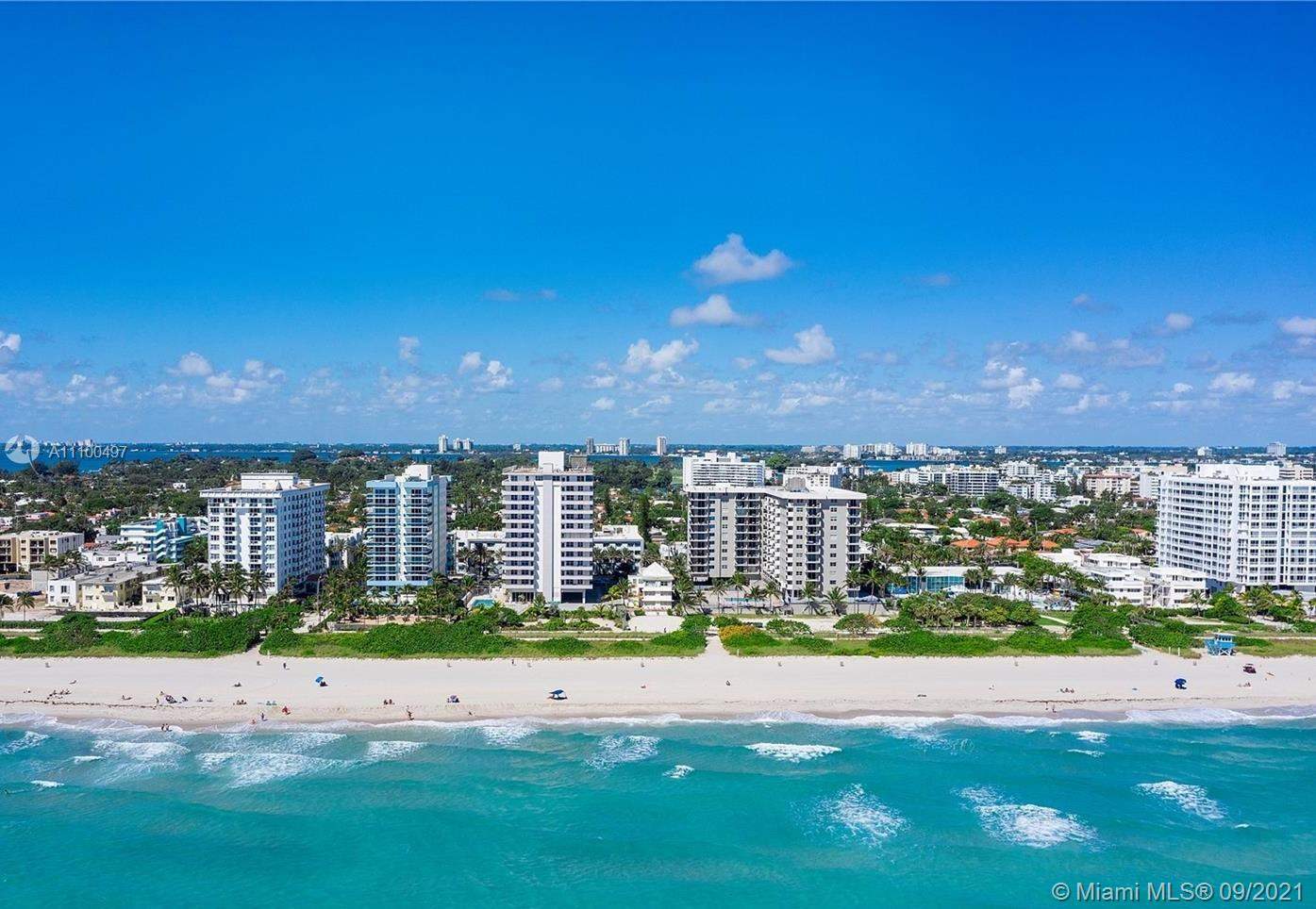 Available now, 2 bedrooms/2 bathrooms in the quiet Surfside Building- Four Winds Condominium with large balcony facing Collins Ave and with partial views of the ocean. This unit has been beautifully decorated and includes all new furniture, living, dining and bedrooms. All well-equipped, just bring your toothbrush!  Live on the Beach in this family friendly building that is just blocks away from Restaurants, Shopping, Supermarkets, Pharmacies, and more.  Hurricane Impact windows throughout. One assigned parking space with plenty of street parking nearby. 24/7 Security & Front Desk Concierge in this building. This rental price Includes water, sewer and internet service. Association requires renters to apply directly.