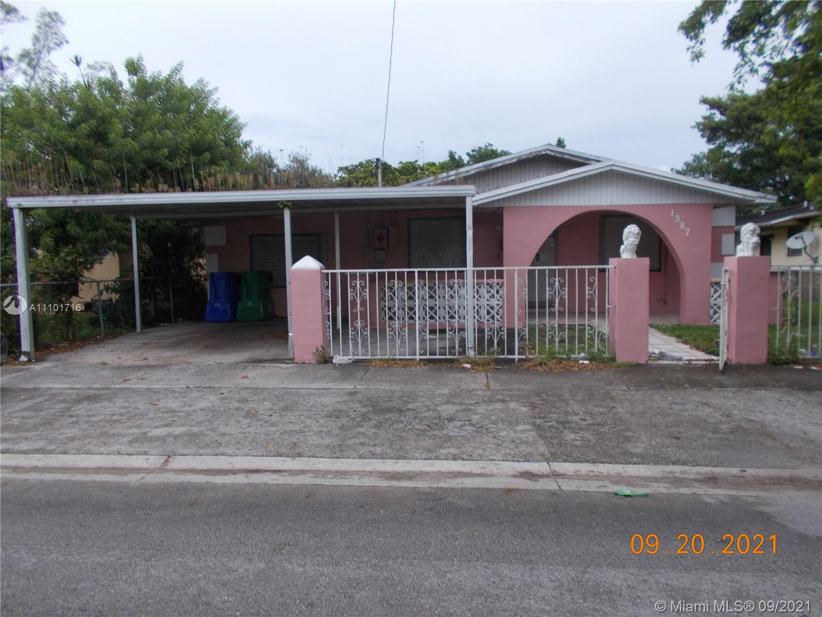 1387 NW 58th St  For Sale A11101716, FL