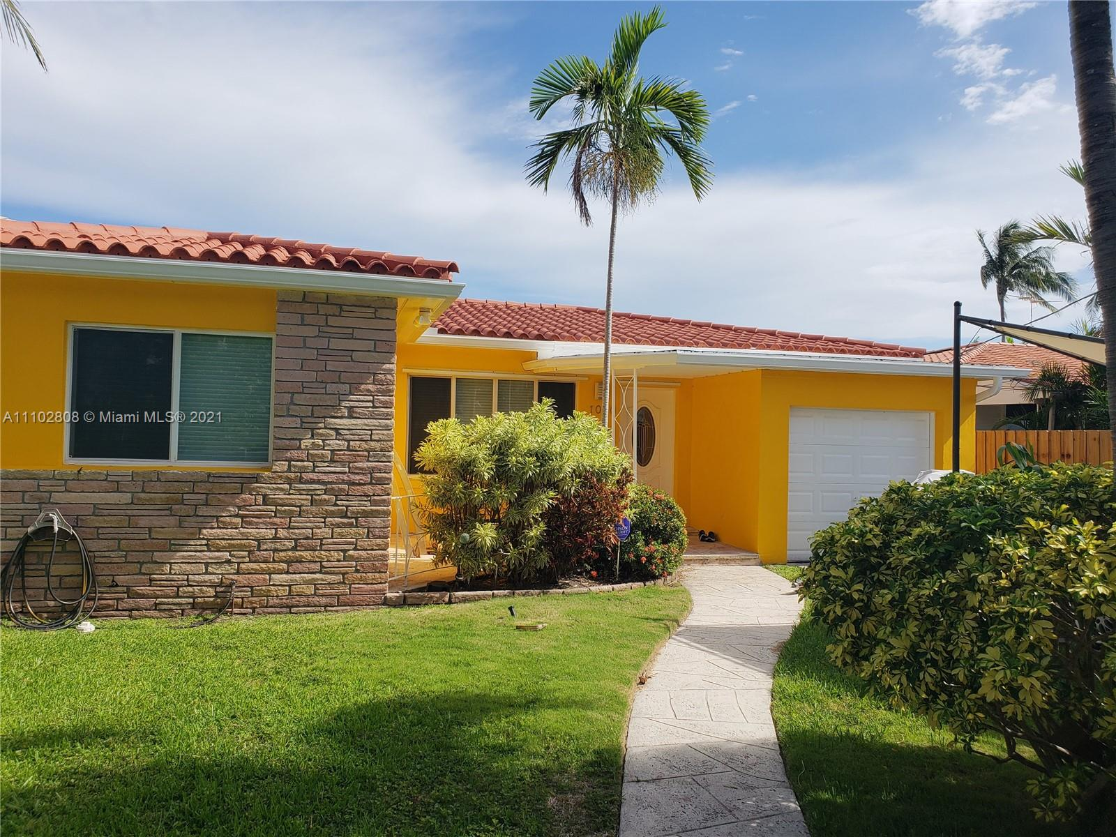 Owner agent occupied home can be shown with advanced notice.  Home is sold AS-IS.  Guard gated island, South facing orientation.  Close to SOBE, close to airport, 1.0 miles to Publix supermarket - Pharmacies 1.0 miles to services.  .7 miles distance to beautiful beaches, less then 10 minutes to haulover inlet and famous sandbar. Quiet, convenient, great schools, community lap pool free for residents.