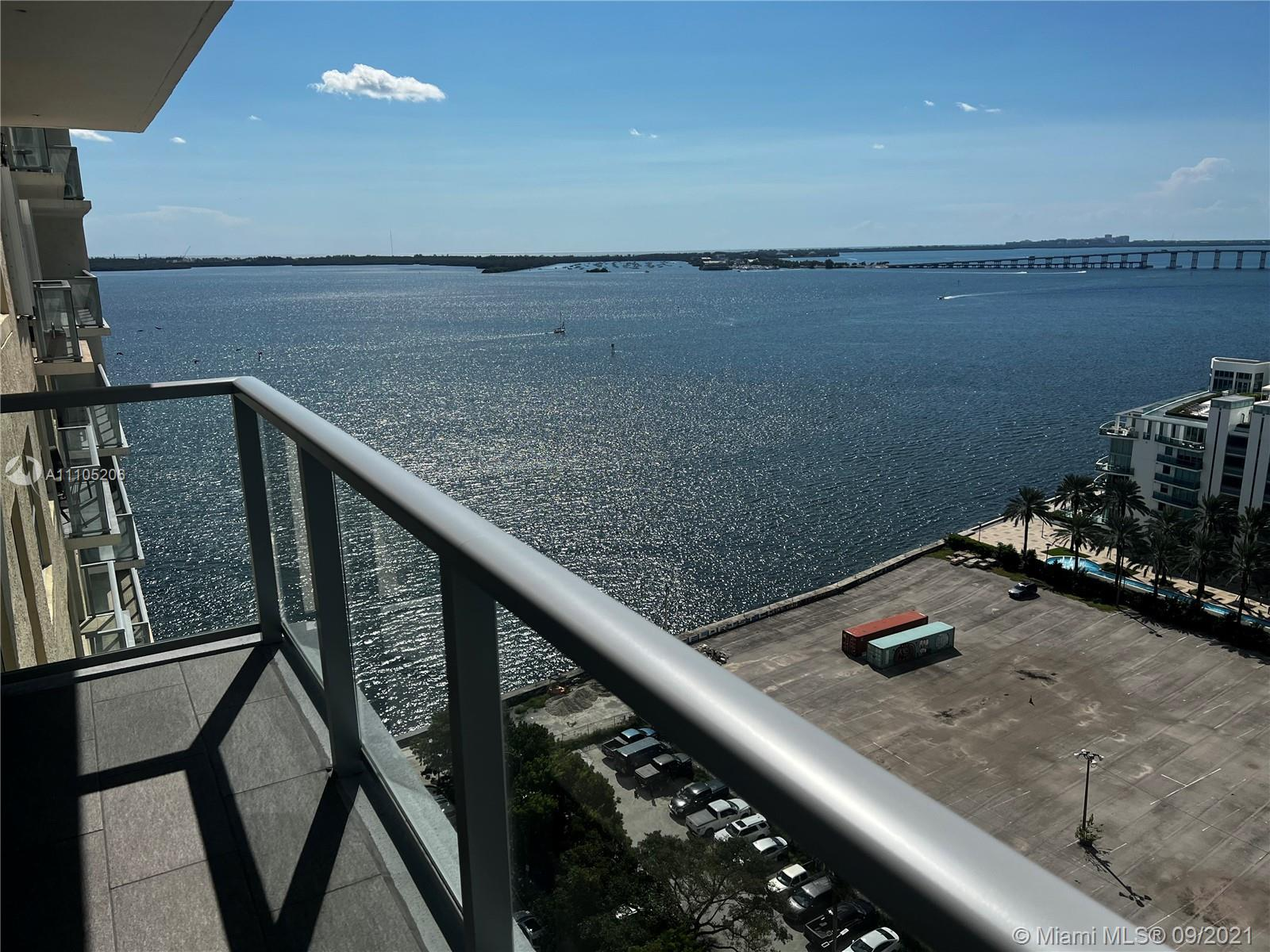 Fantastic waterfront views from every room. Large L shaped balcony with water and city views.  Enjoy all amenities including pool, tennis courts, pool and ping pong tables. hot tub, bbq grills, cabanas, gym,sauna, raquet ball courts, business center, restaurant and more. Washer/dryer in unit.  There is 1 assigned parking space and courtesy valet for the second car. Basic cable and internet/Wifi included. Managed by The Jacobs-Alfonso Group.