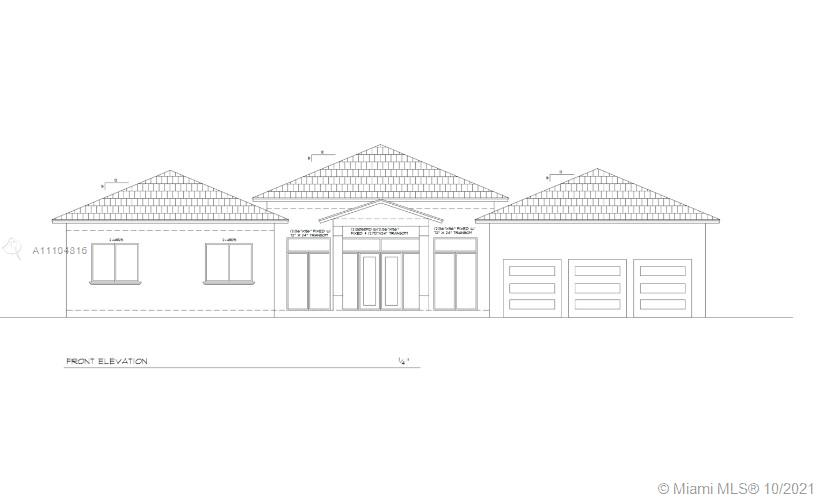One of a kind opportunity in Pinecrest for single-story 6243 SF custom home on 20,928 builders' half acre corner lot with 2 entrances. Plans in final approval stage include 6BD 6BA with 3-car garage. Owner-builder will customize plans to include 7BD 7BA. Located in the Village of Pinecrest offering the best in schools and parks and recreation all nearby. Current home to be demolished by seller. In No-Flood Zone X. Municipal Water and Septic.