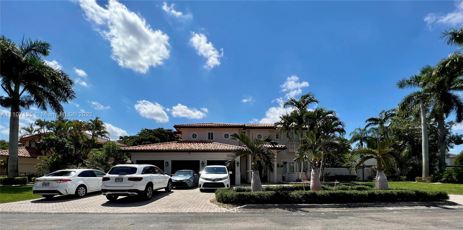 Live at this gorgeous home nestled in a quiet street in the exclusive community of Doral Estates in Doral.  This 5 bedroom 4.5 baths home features a perfect floor plan for families, top of the line appliances, impact-resistant windows, an expansive master bedroom, marble floor downstairs, wood floor upstairs, heated pool, jacuzzi and much more.