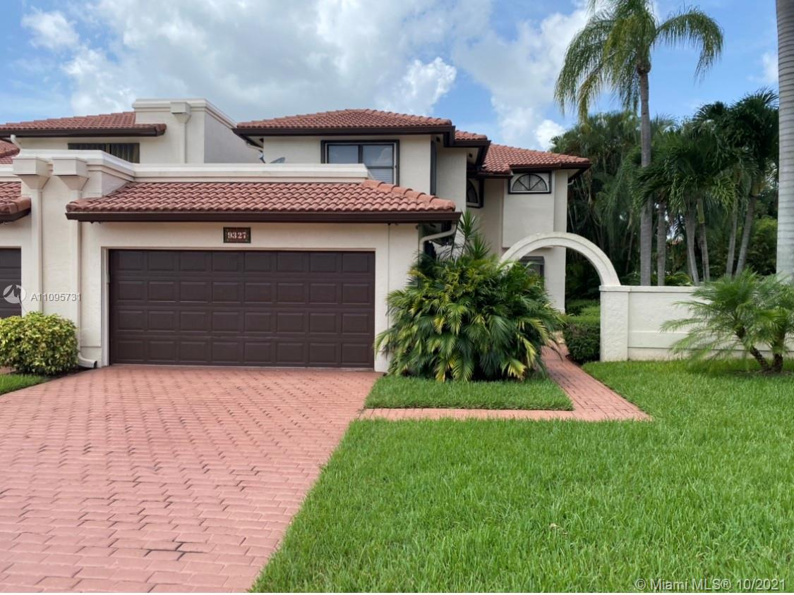Spectacular two story townhome located within Doral Estate and in the prestigious Trump National Doral Golf Course. With only a short golf cart ride, you will be in the golf course. This gorgeous T/H has 3 bed and 3 bath, high ceiling looking at the huge patio. This beautiful maintained community offers 24 hrs private security patrol, a swimming pool and tennis courts for its residents. This is a golfers paradise. Property will be available for occupancy in February 2022