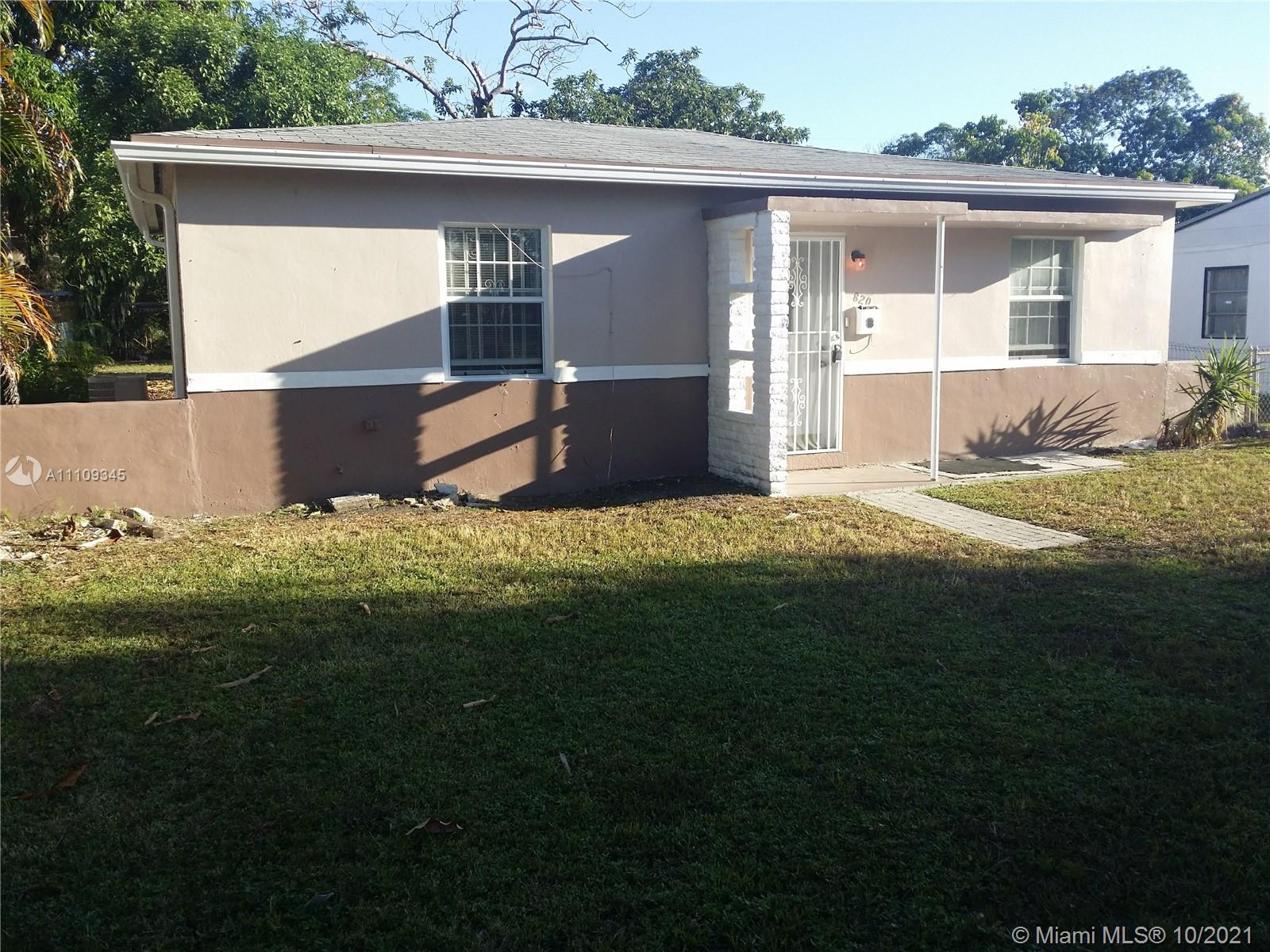 820 NW 128th St  For Sale A11109345, FL