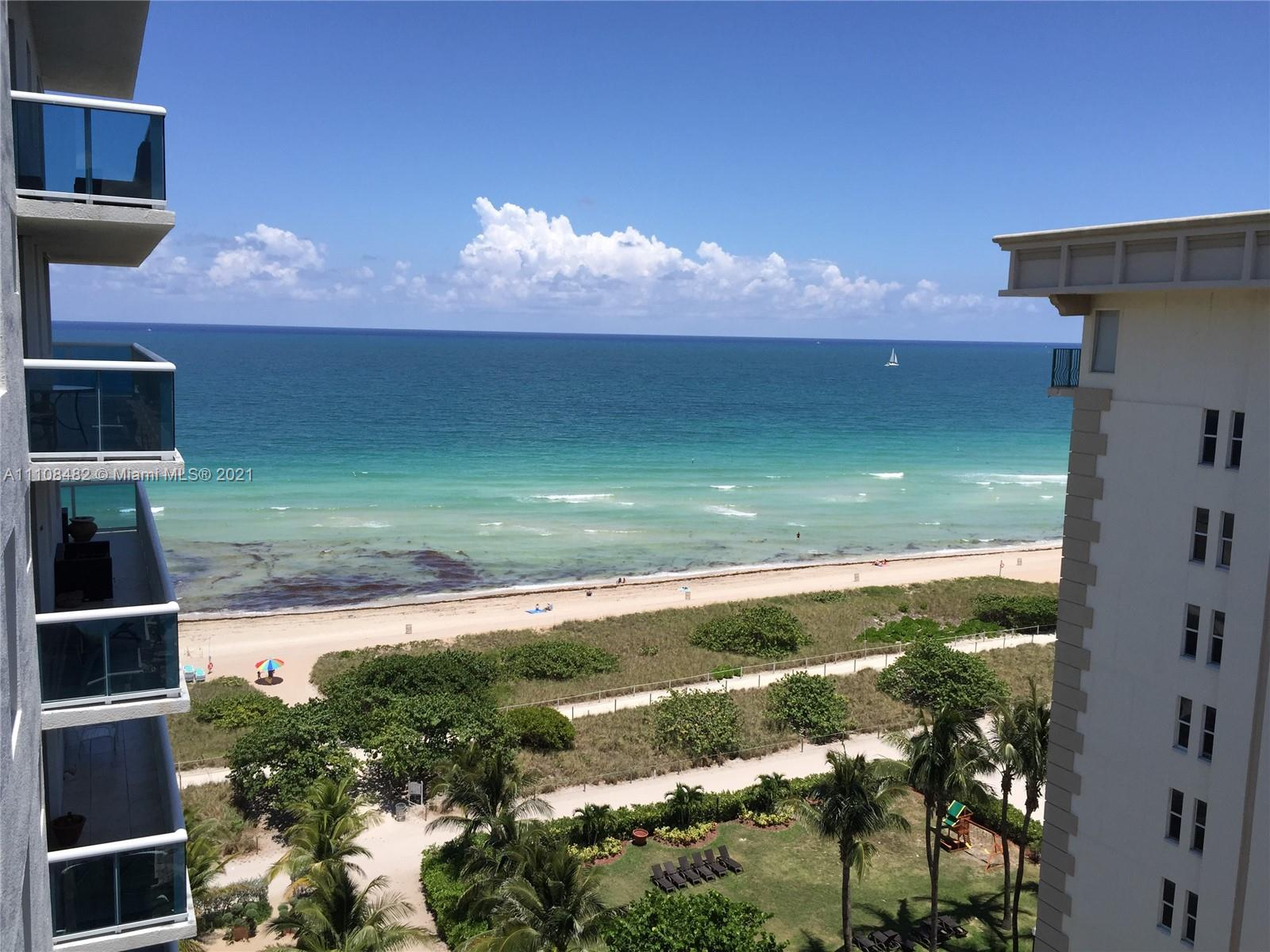 Enjoy beautiful views of ocean & Intracoastal from this 2 bedroom, 2 bath condo located on the beach in Surfside. All new appliances, new paint, lots of natural light. Newly updated boutique building with new pool & deck, new roof & balconies, new doors, new floors in common areas & 2 parking spaces. Great Building Amenities: Heated Pool with Jacuzzi, Ocean Lounge, Chairs and Umbrella Service, Barbecue, Beach Volleyball, Fully Equipped Fitness Center, Billiard Room, WIFI in Common Area, Bike Storage. Located in the heart of Surfside walking distance to Bal Harbour Shops, Publix, Restaurants, Surfside Community Center and much more. **Special Assessment $329 per month through December 2023.