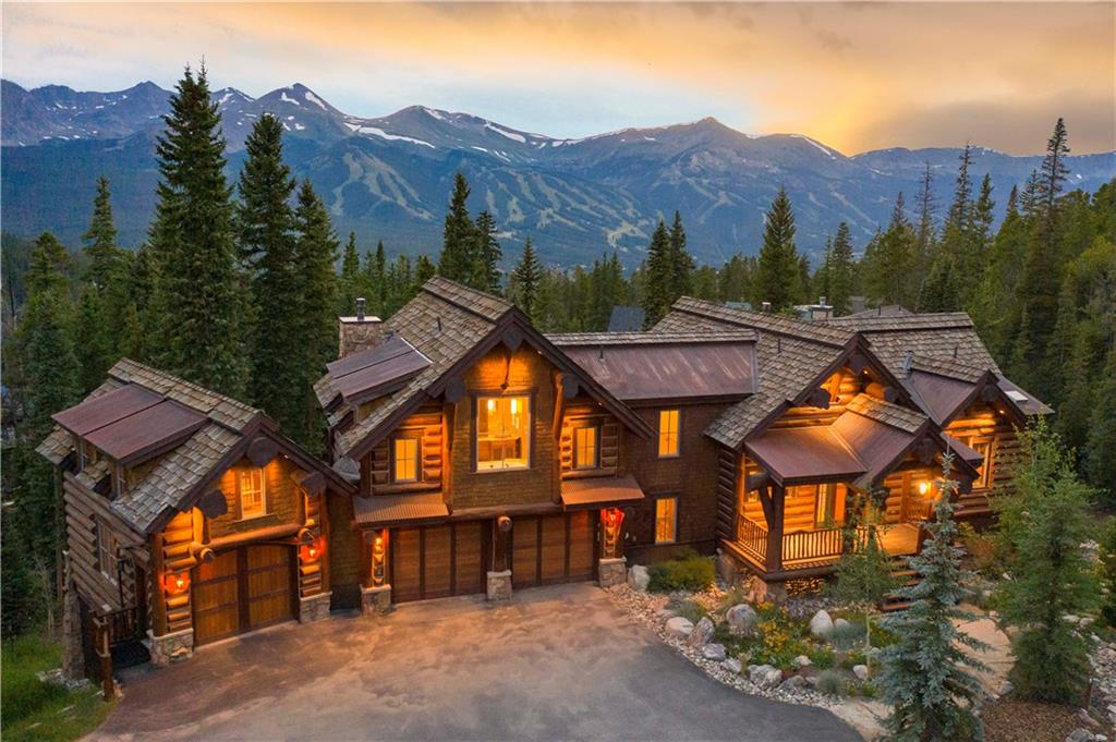 This timeless architectural masterpiece was designed by Suzanne Allen-Sabo & has incredible views of the Breckenridge Ski Area. Handcrafted details include rare bristlecone accents, massive stone masonry, chain suspended wood lighting, root flare logs & beautiful reclaimed wood floors. The lower level has 10 ft ceilings, private wine room & access to the flagstone patio with hot tub & fire pit. Located in the coveted Goldenview neighborhood with direct access to Baldy Mountain & the bus system.