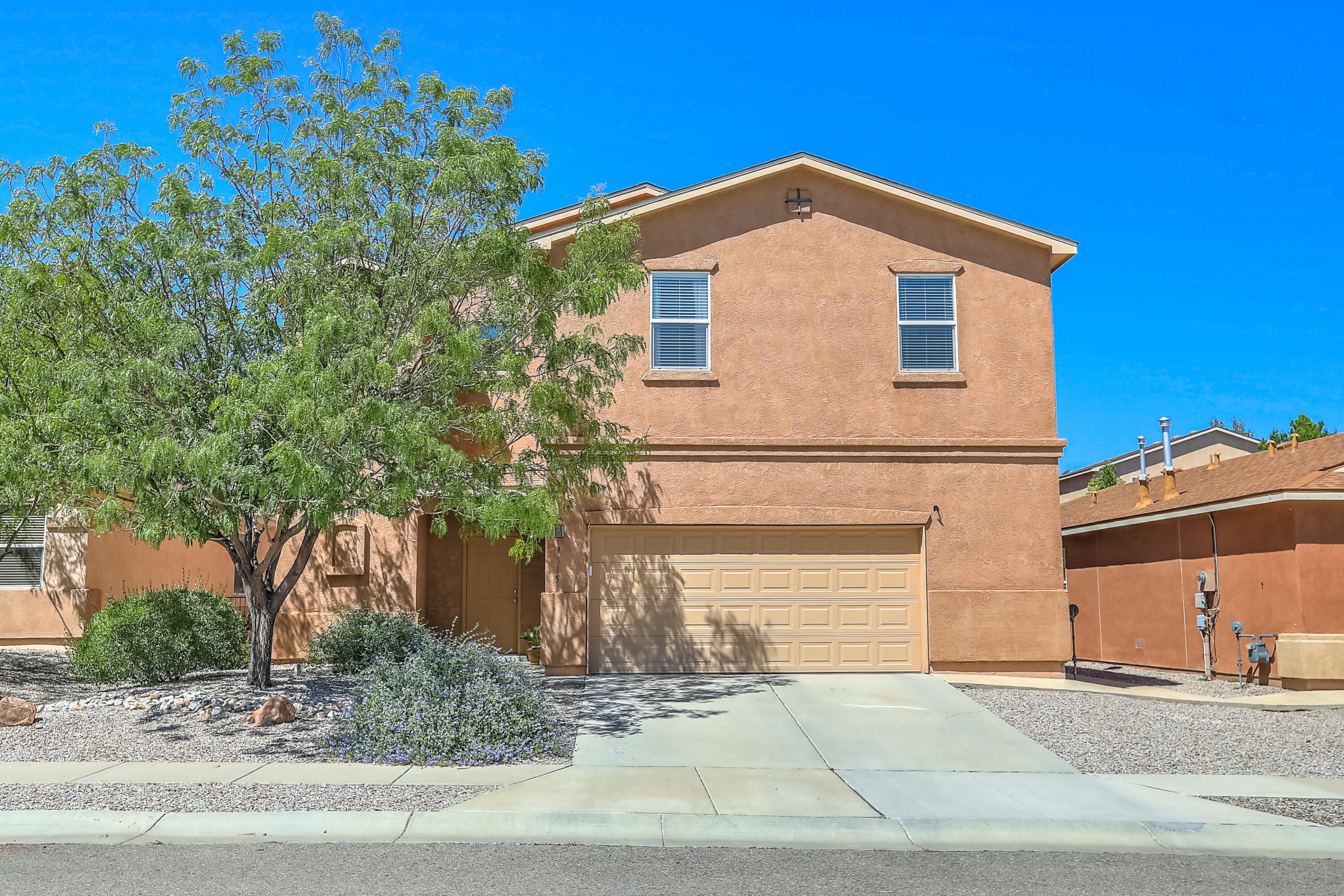 Fabulous House In Established Neighborhood! This Wonderful Open Concept Floor Plan Offers 4BR, An Office, 2 1/2 BA, 2CG,Utility Room,owned Tesla Solar Panels & More! The Living Room Is Open & Bright And Offers Plenty Of Room For Seating& Cozy Gas Fireplace.  Kitchen With lots of usable Granite Counters & Stainless Steel Appliances, Eat In Bar, & Dining Area. The Master Bedroom Is Generously Sized With Walk In Closet & Spacious Bathroom Completed With Separate Tub and Shower & Double Sinks. 3 Well Sized Bedrooms & Full Bath To Follow! Outside Is Ready For Summer W/Covered Patio, Walled Yard, And EZ Maintenance Landscaping, updated in January 2021 with turf. This Home Has So Much To Offer! Close To Schools, Shopping & Restaurants!