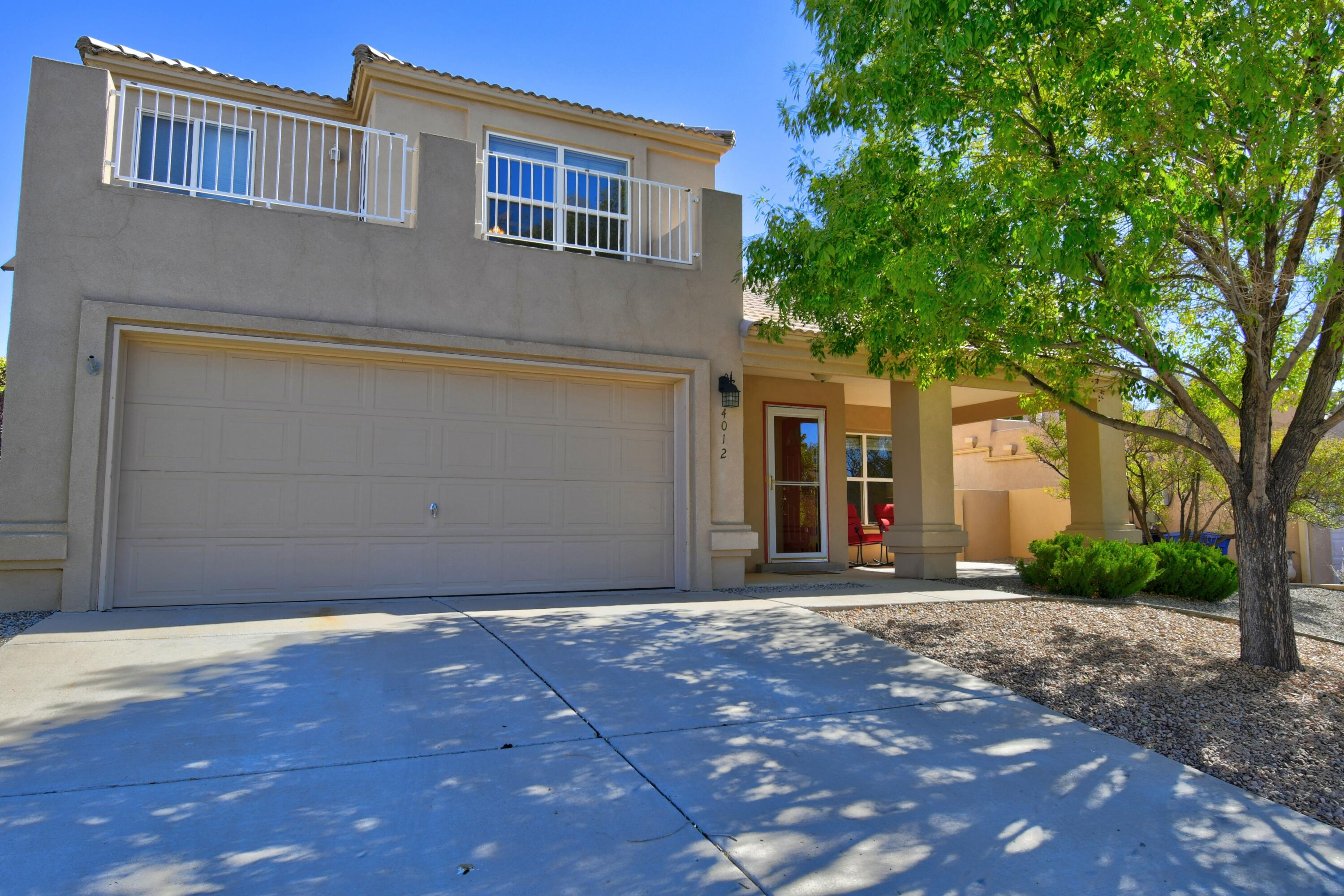 Beautiful 4 bedroom with  3 Full  Bathrooms that features 1 Bedroom and Full Bath Downstairs! Huge family room with built-in gas log fireplace! Big Country Kitchen with loads of  Cabinets,Stainless Steel Appliances and a Granite Breakfast Bar Island big enough for Gilligan!🏝 The dining room is separate and off the side of the kitchen. The fourth bedroom is off the kitchen and could be an office or guest bedroom! The master bedroom features step in shower ,Roman Tub and private balcony with views. The backyard is a private retreat with a covered porch beautiful shade trees , garden path and  storage building! Pitched tiled roof . And two car garage!