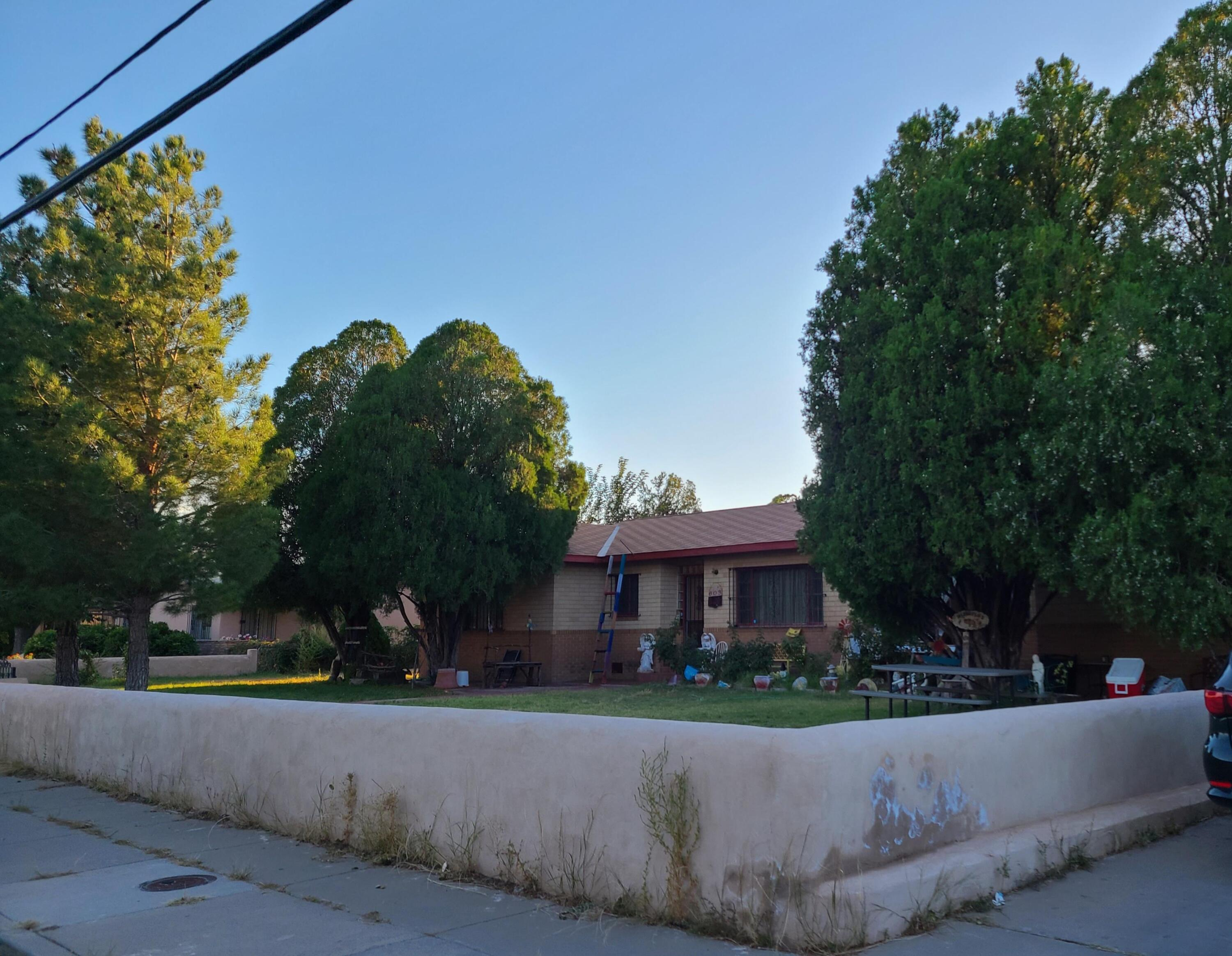Hardwood floors, Fireplace, Metal door frames, Large home with many possibilities.
