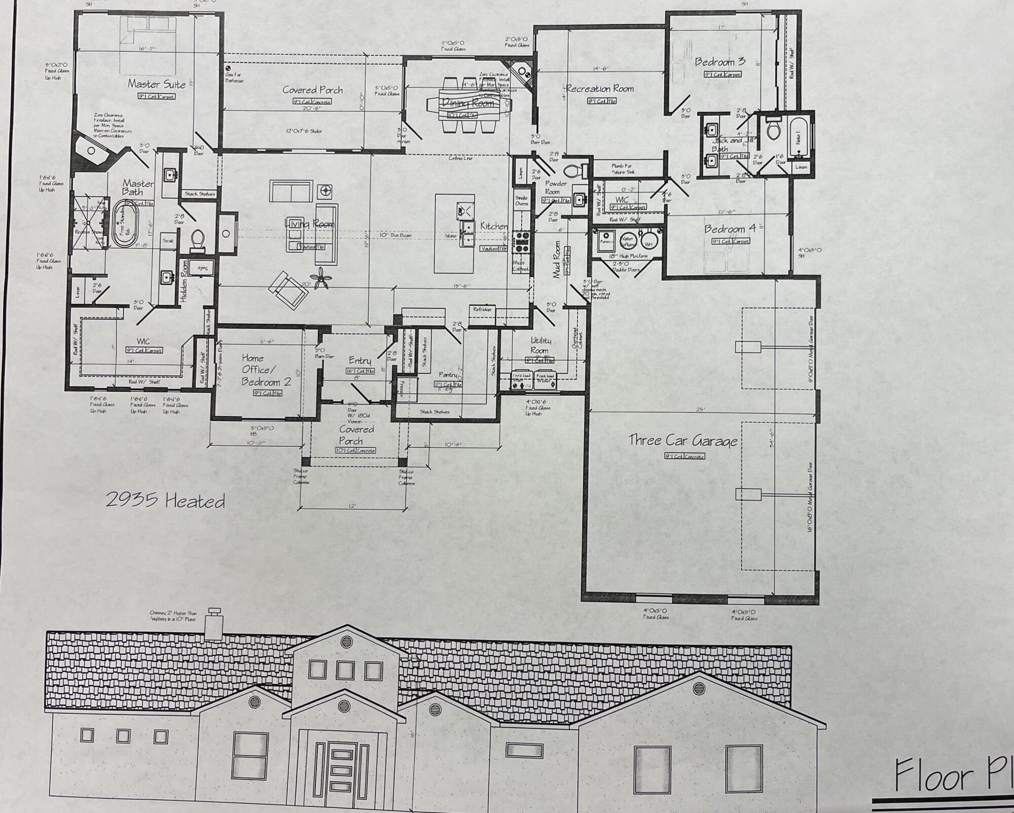 Under construction, stunning custom home. This amazing home offers 4 bedrooms, large walk-in closet and shower in the master suite, a fire place in the master, living room and dinning room! Recreation room for entertaining or movie nights. Oversized pantry to fit freezer and mud room off of the garage, just to mention a few great features! Located in a gated community on 1.5 acres.