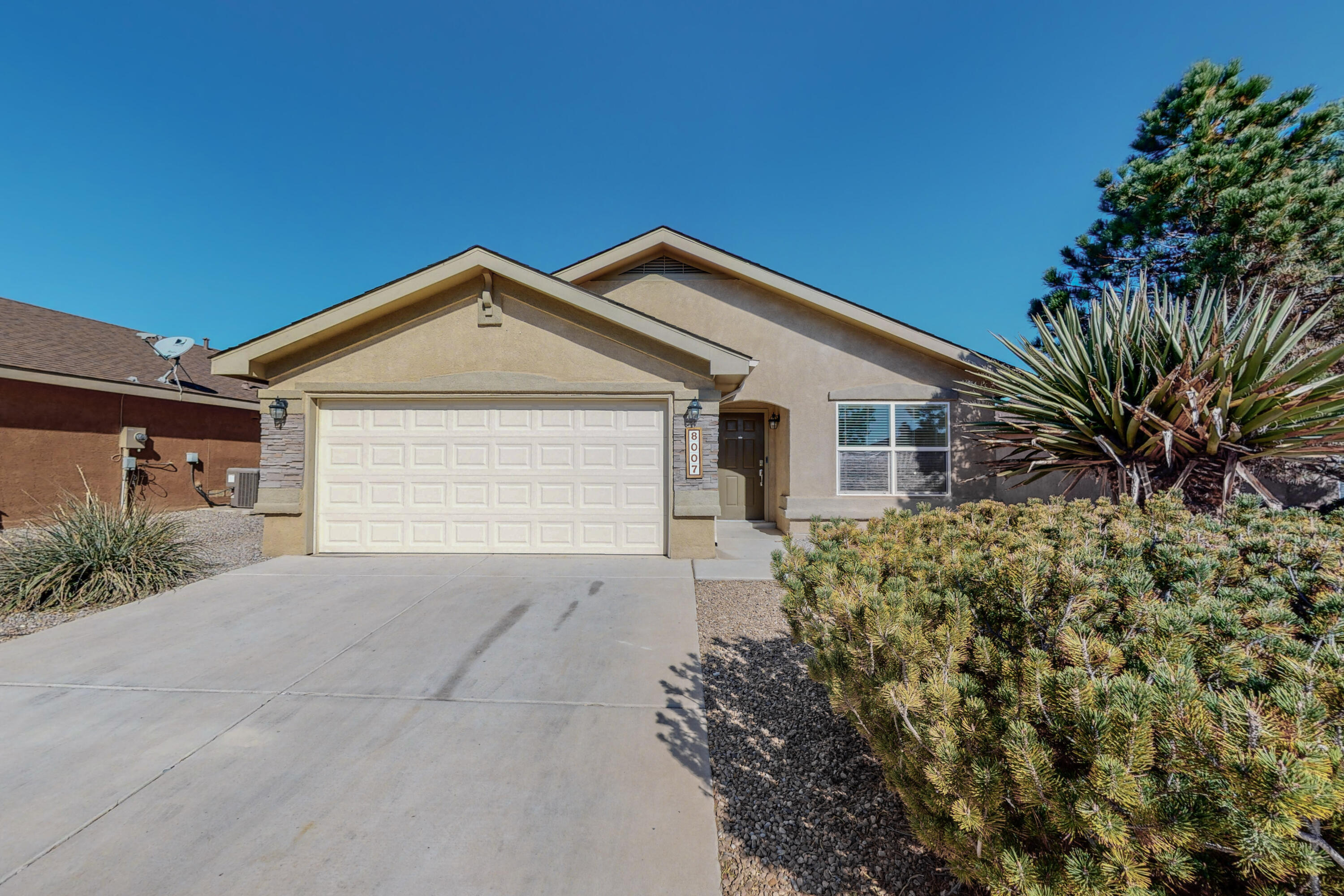 Freshly updated Pulte home in the sought after community of Ventana Ranch. Luxury vinyl flooring throughout(no carpet) Ceiling fans and recessed lighting have all been replaced. Newer Refrigerated Air and Furnace(approx 2 years young). Functional kitchen with ample cabinets and countertops. Stainless appliances all convey. Open floor plan. Spacious Primary bedroom, dual vanities, walk in closet. 2 more good sized bedrooms. SW landscape, front and back with drip system.Close to parks, amenities & schools (Volcano Vista school district). Dont miss this GEM.