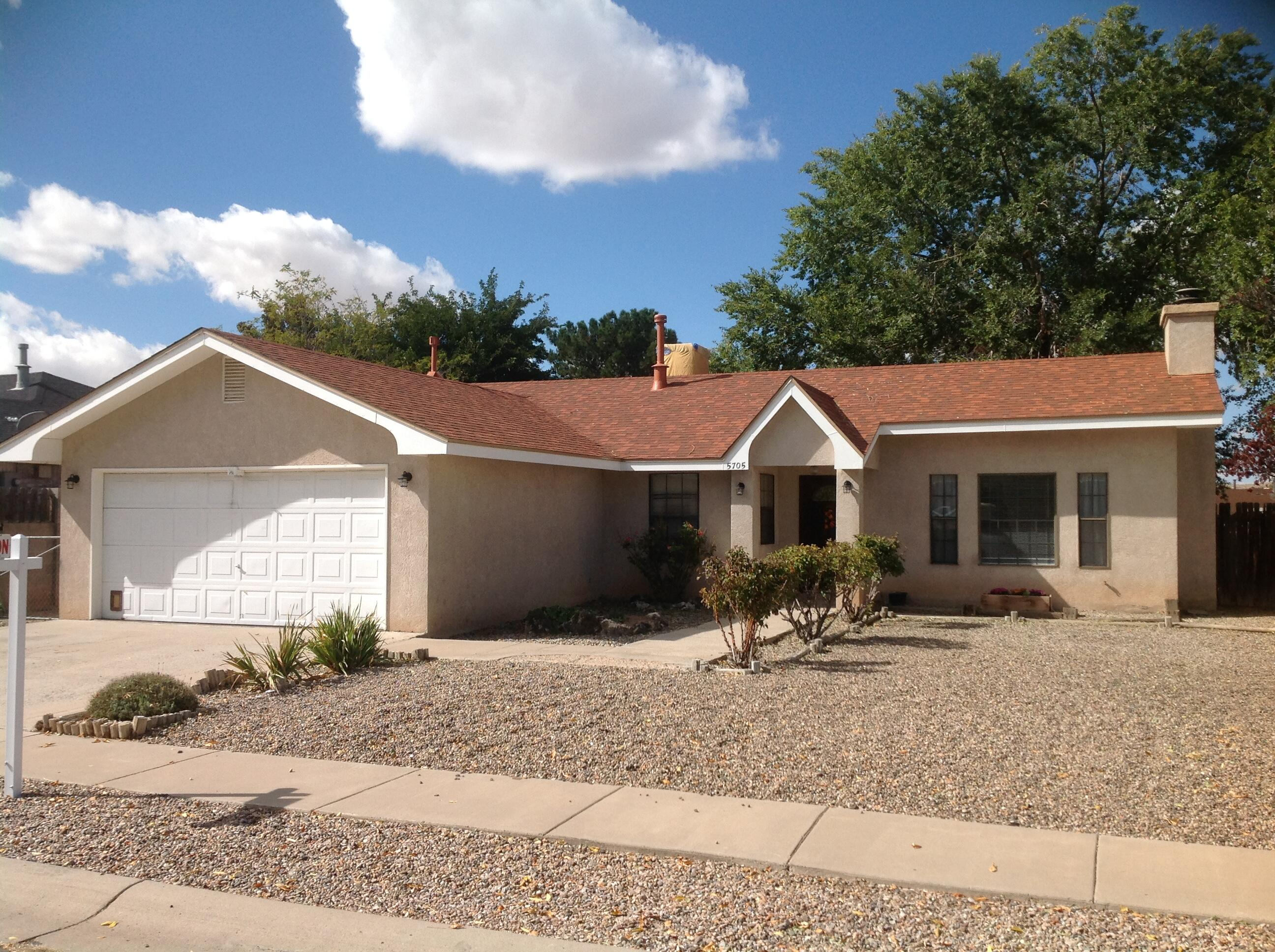 Excellent Taylor Ranch Home.  New roof, new water heater, new flooring including new carpet and kitchen vinyl.  This adorable home has low grounds maintenance, fresh paint and is move in ready.  The third bedroom sits off of the primary and second bedroom areas for a perfect office or in-law suite.  All offers will be considered and reviewed on Wednesday evening, October 27th.