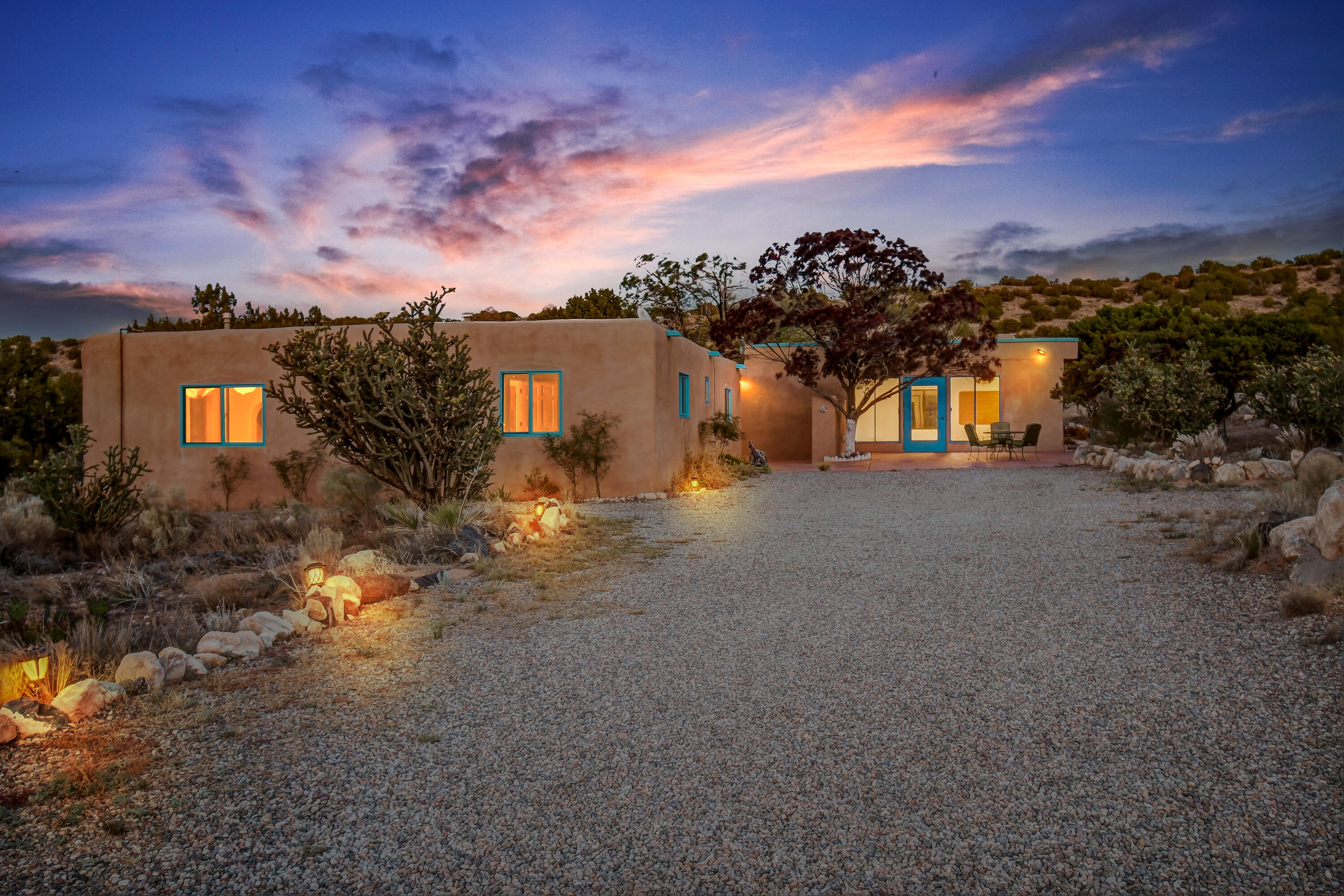 Welcome home to this country ranch style home nestled in the peaceful heart of Placitas. Enjoy incredible views from every angle of this property! Check out this home's (30x24) bonus space that opens up the possibility of TWO master suites or an additional living area! Newer 200 ft well, newer roof, new stucco, new water heater and new paint. Bathrooms and kitchen recently remodeled. Property offers plenty of outdoor living space, garden area and even a separate private deck! Don't miss your opportunity to tour this home and make it your own!