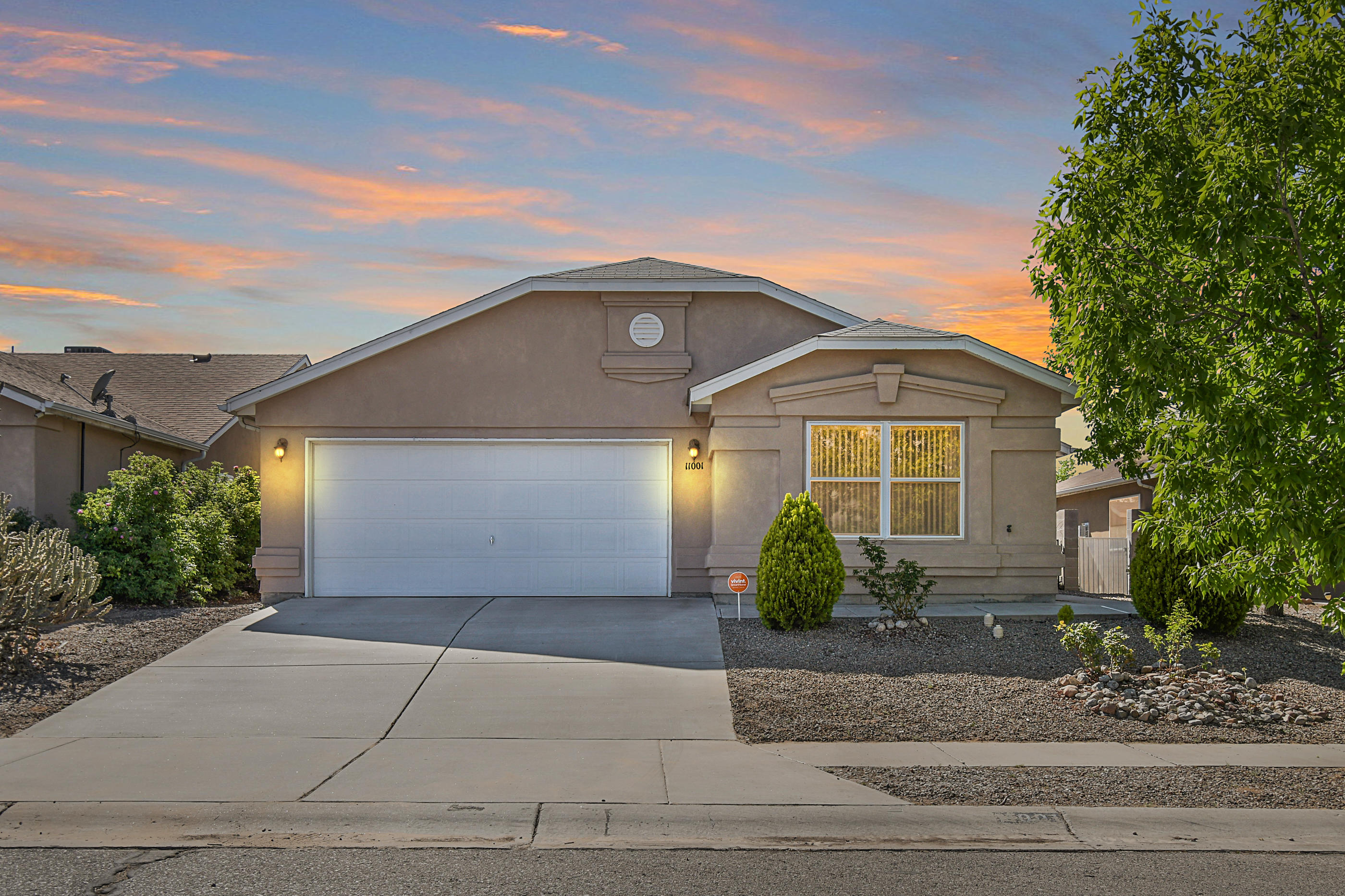 Nice well maintained 3 bedroom home with remodeled bathrooms, tile flooring throughout & carpet in bedrooms! Raised ceiling in living area. Master bedroom features a walk-in closet, and bathroom has a garden tub! Hall bathroom has a large shower stall, no tub! Walk-in pantry. New water heater with 9 yr warranty. Refrigerator, washer, and dryer stay!